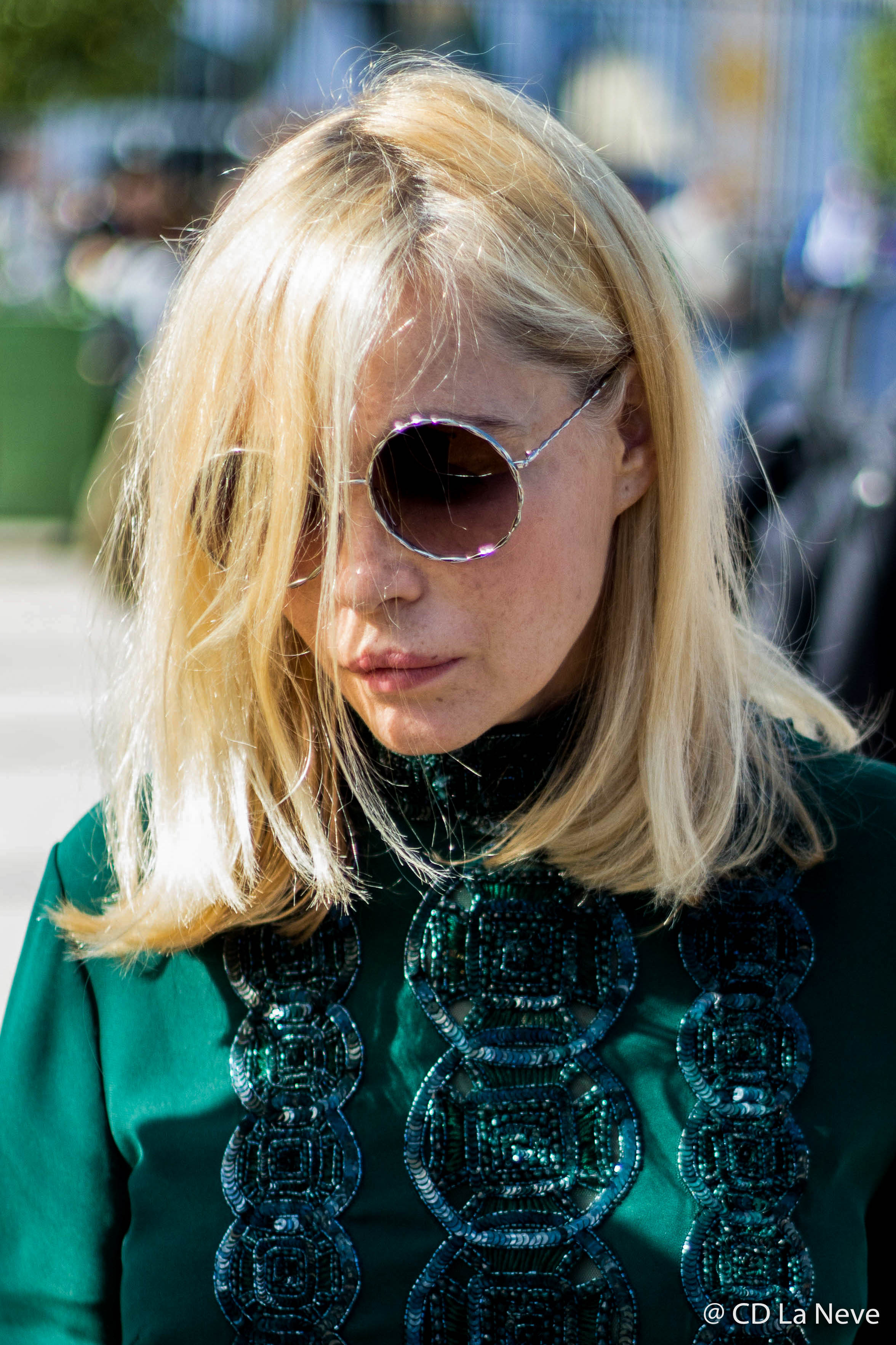 Emmanuelle Béart Elie Saab Street Style
