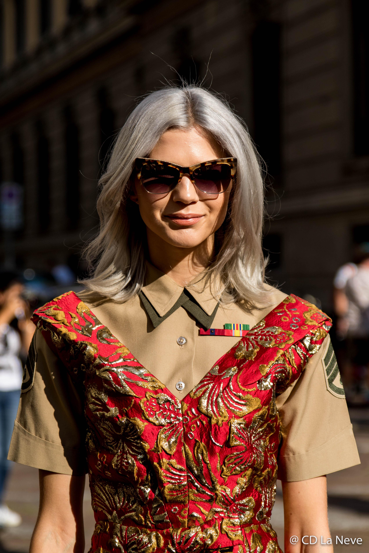 Samantha Angelo at Milan Fashion Week