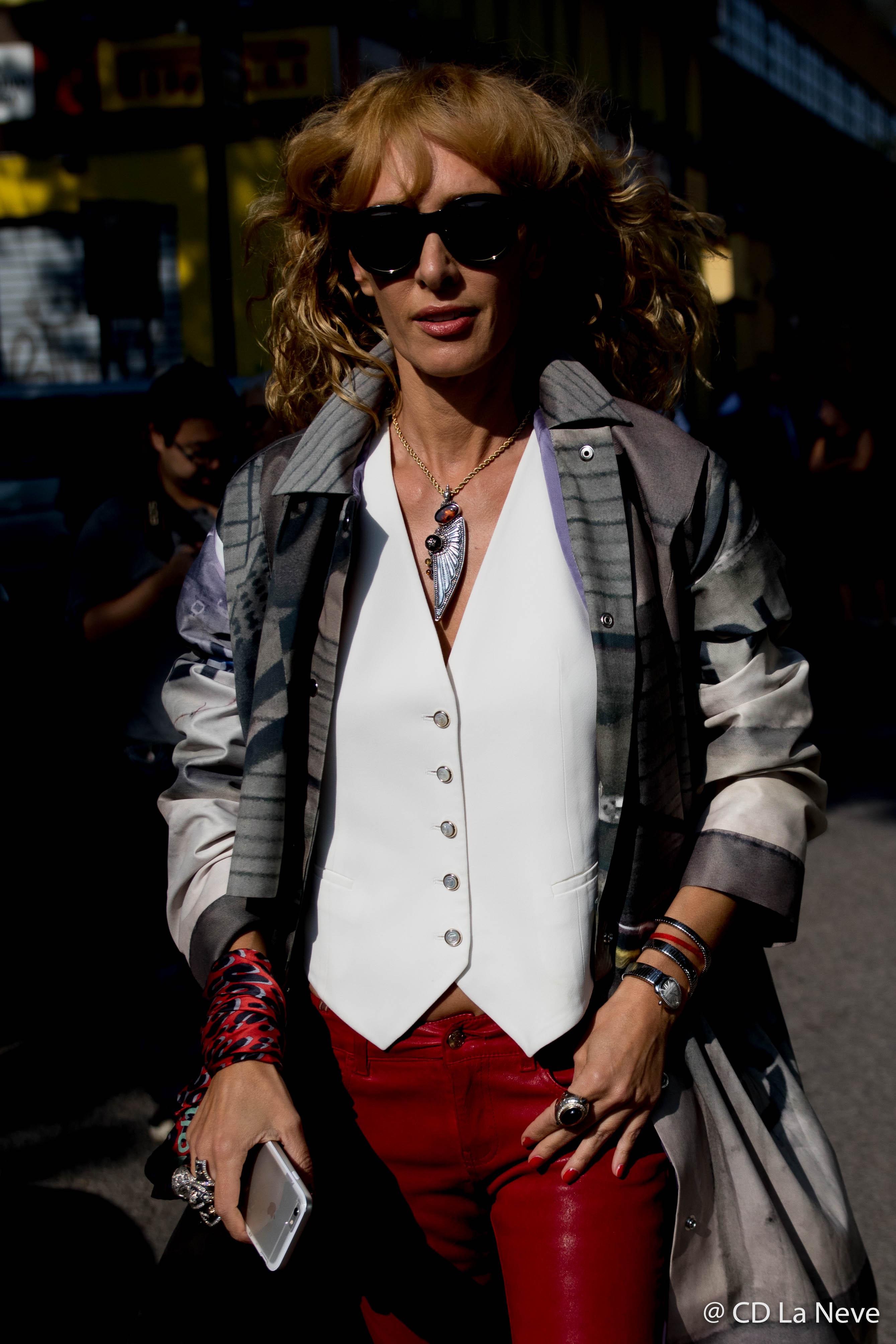 Elina Halimi Milan Fashion Week