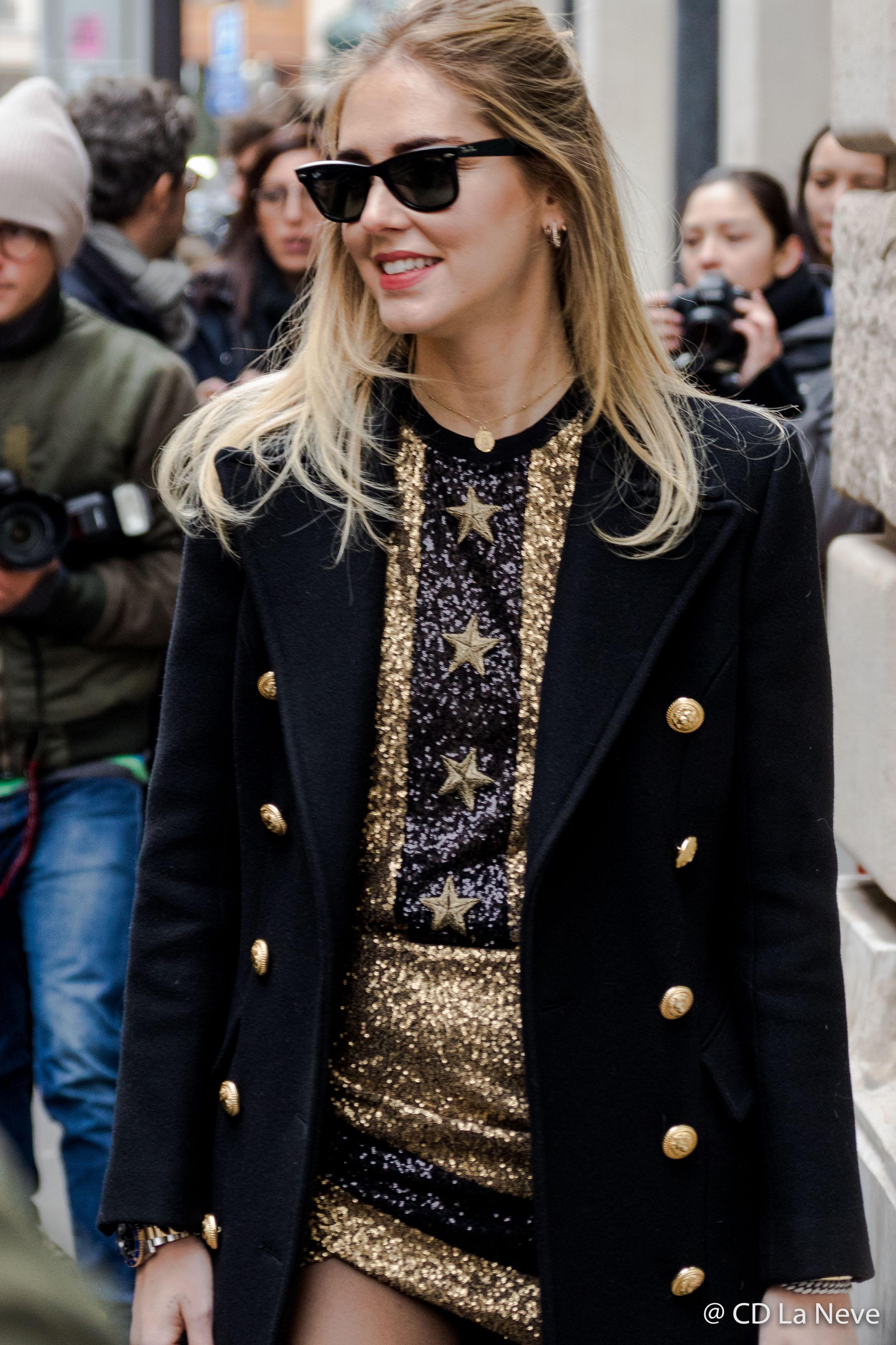 Chiara Ferragni PFW Haute Couture Street Style SS17