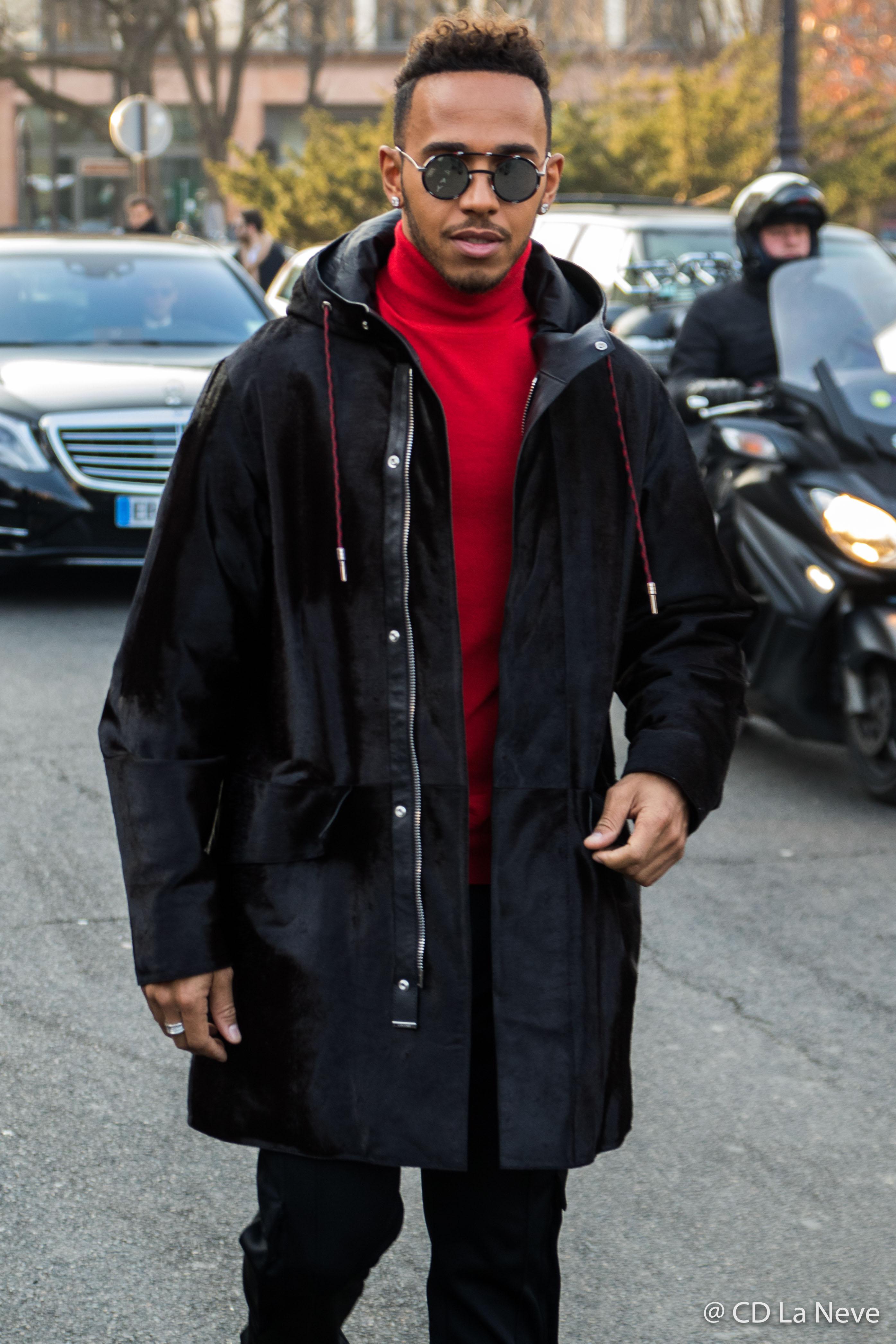Lewis Hamilton Street Style PFWM Dior Homme AW17