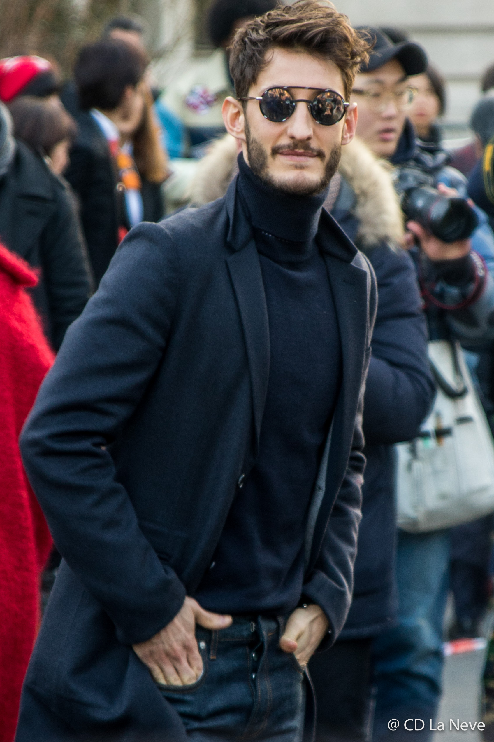 Pierre Niney PFWM Christian Dior Homme AW17