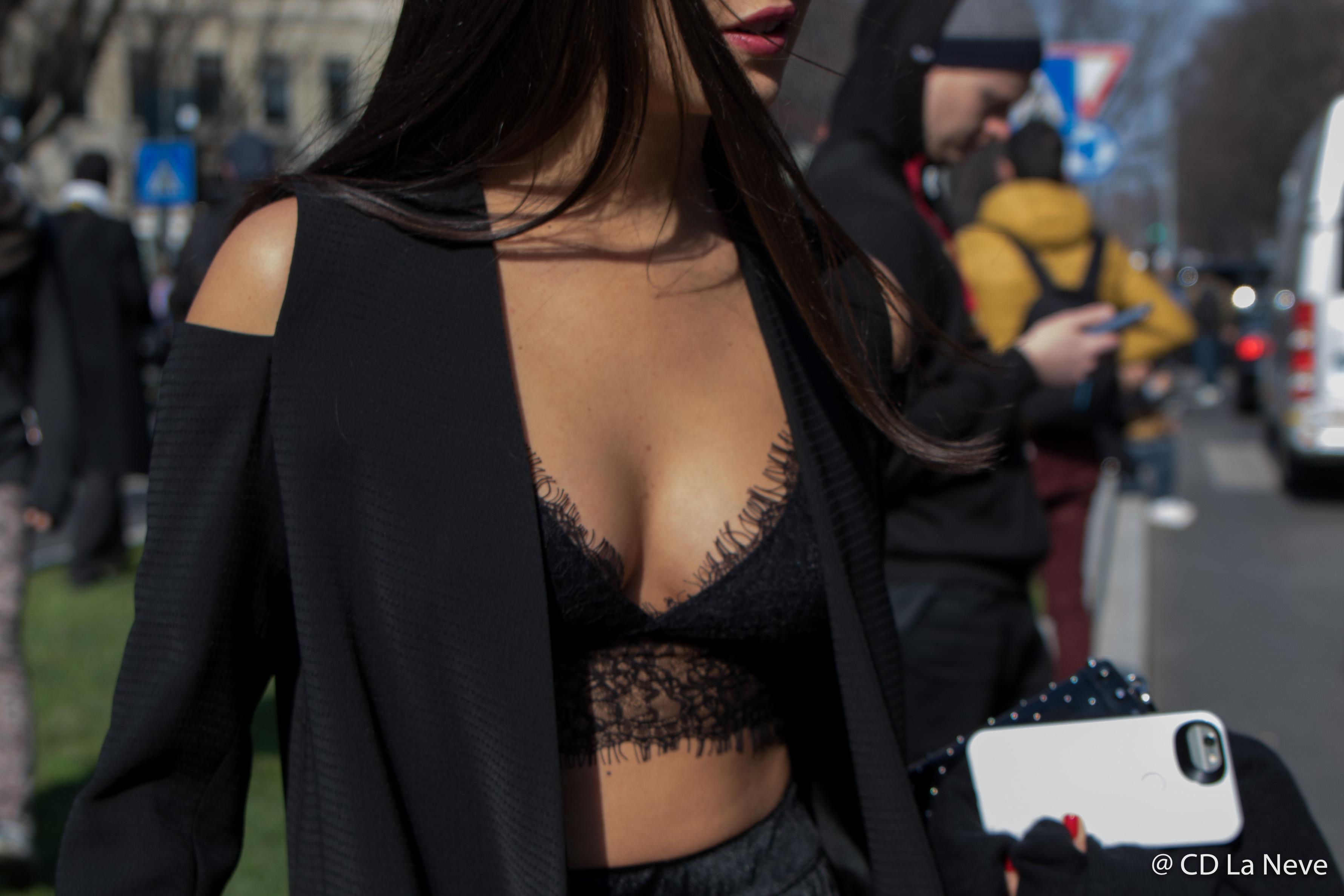 Giorgio Armani Street Style Milan Fashion Week FW17