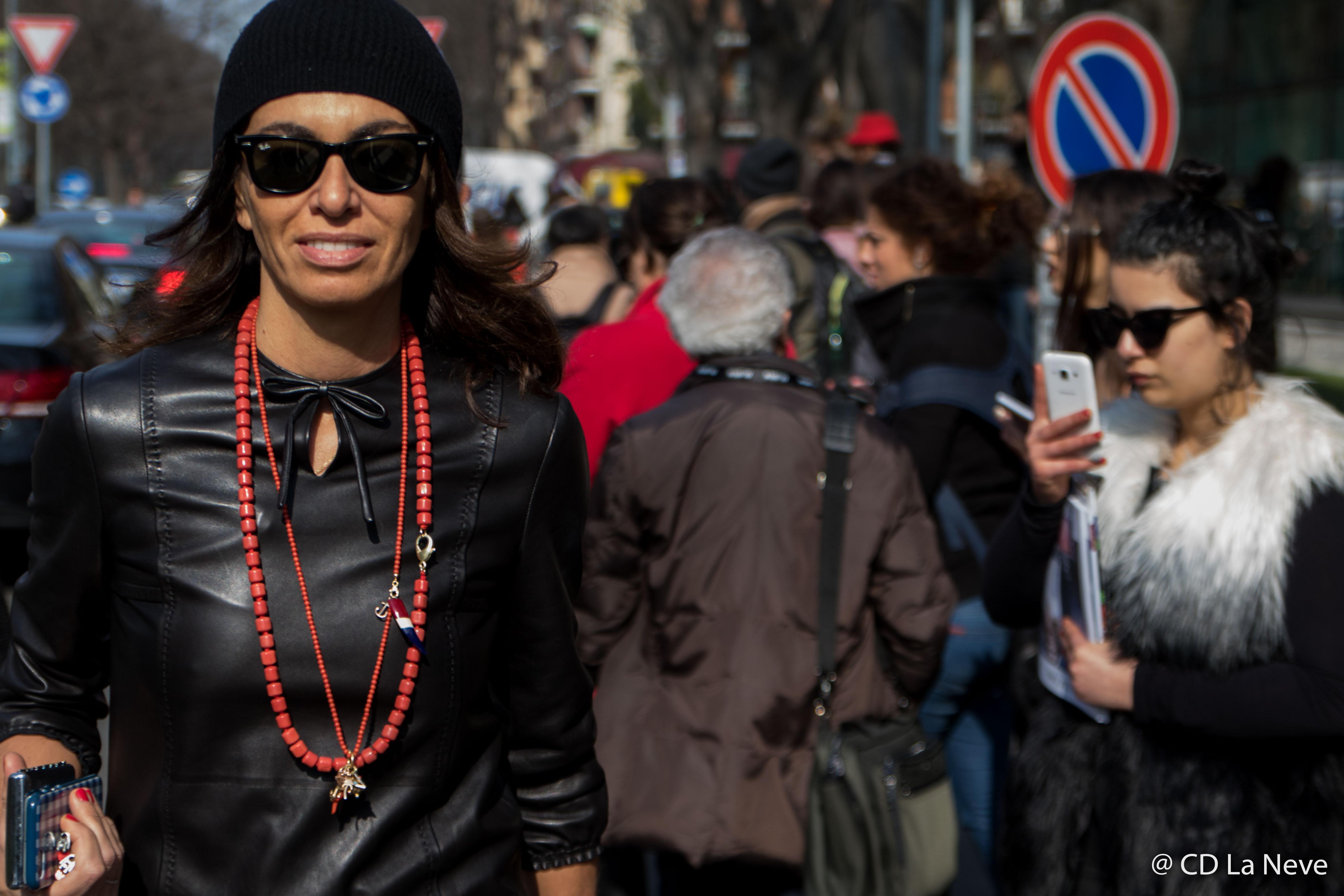 Street Style Giorgio Armani Milan Fashion Week FW17