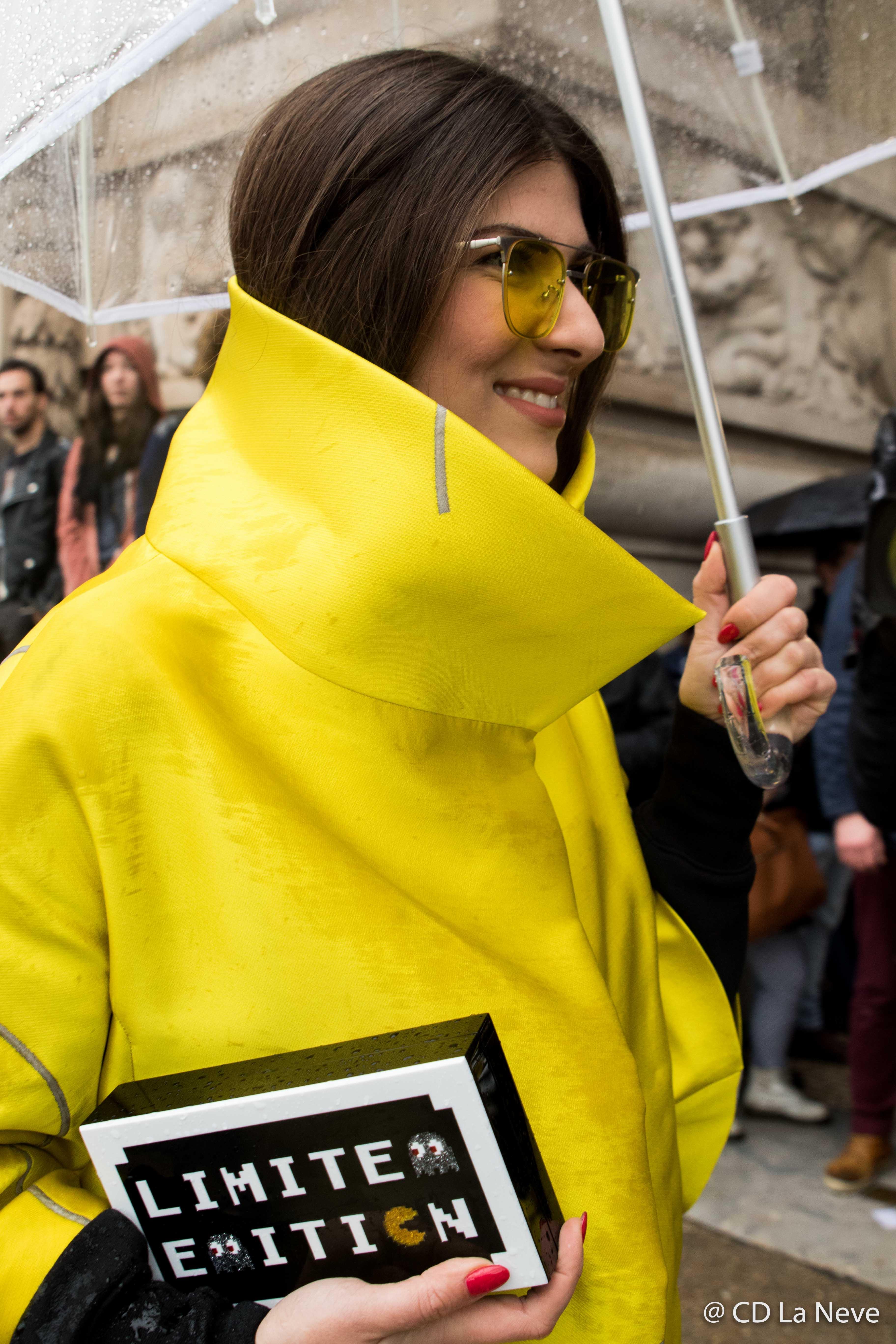 Elie Saab Street Style Milan Fashion Week FW17