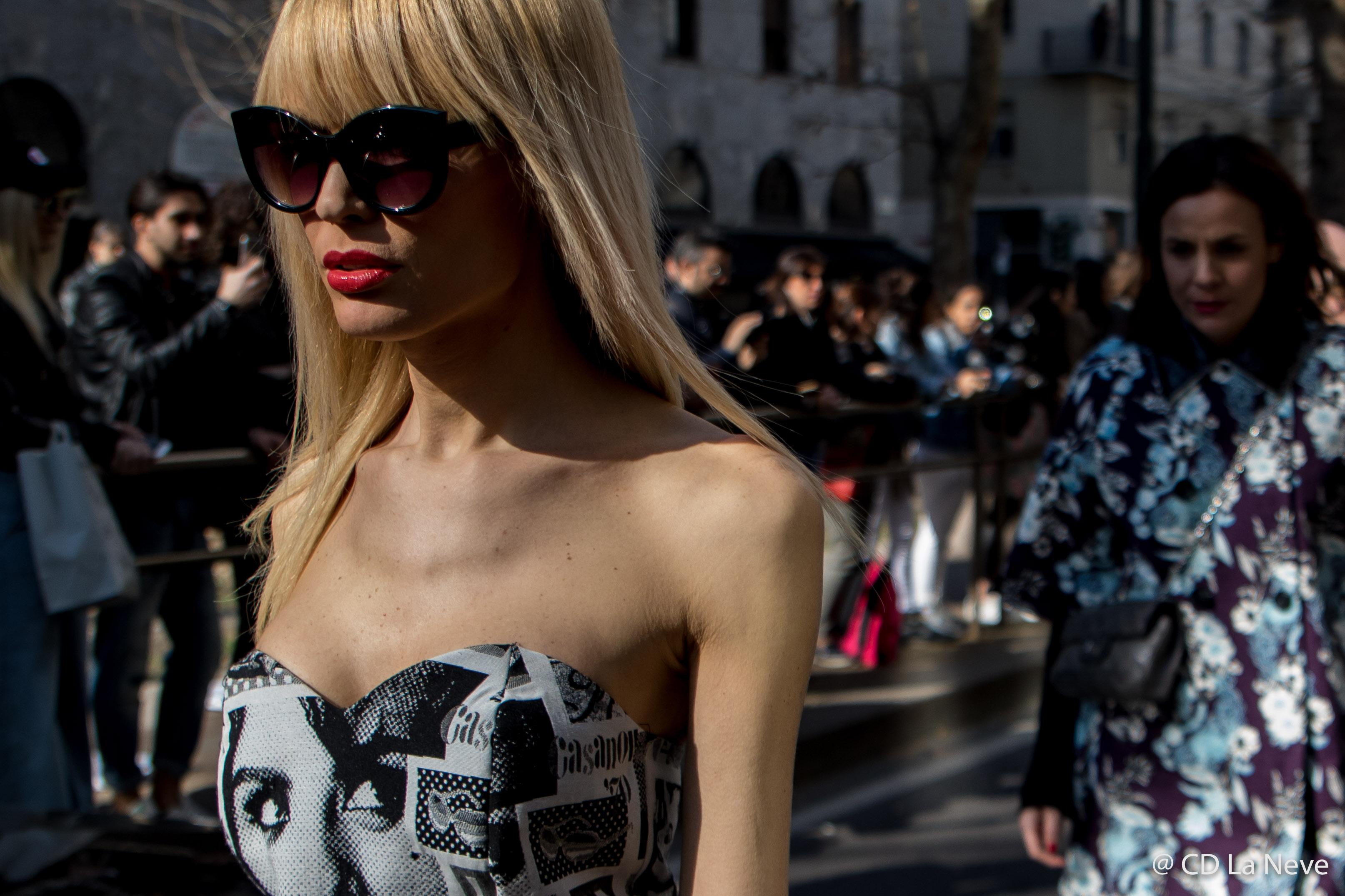 Dolce Gabbana Street Style Milan Fashion Week FW17