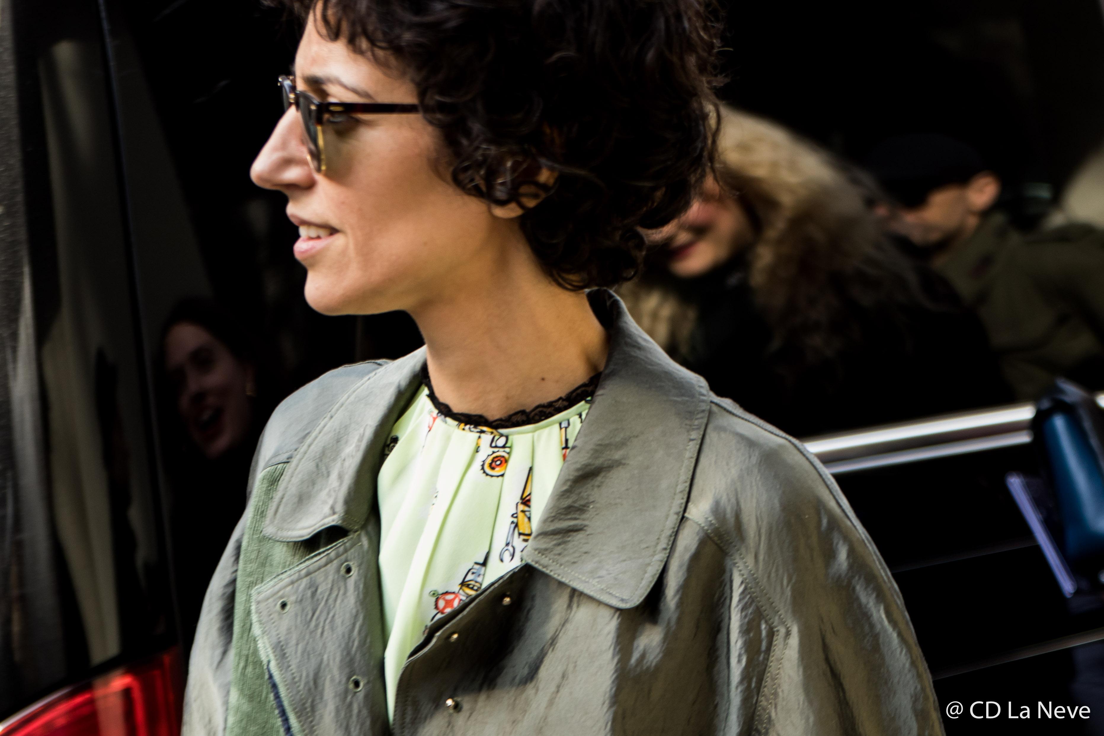 Yasmin Sewell Street Style Dolce Gabbana Milan Fashion Week FW17
