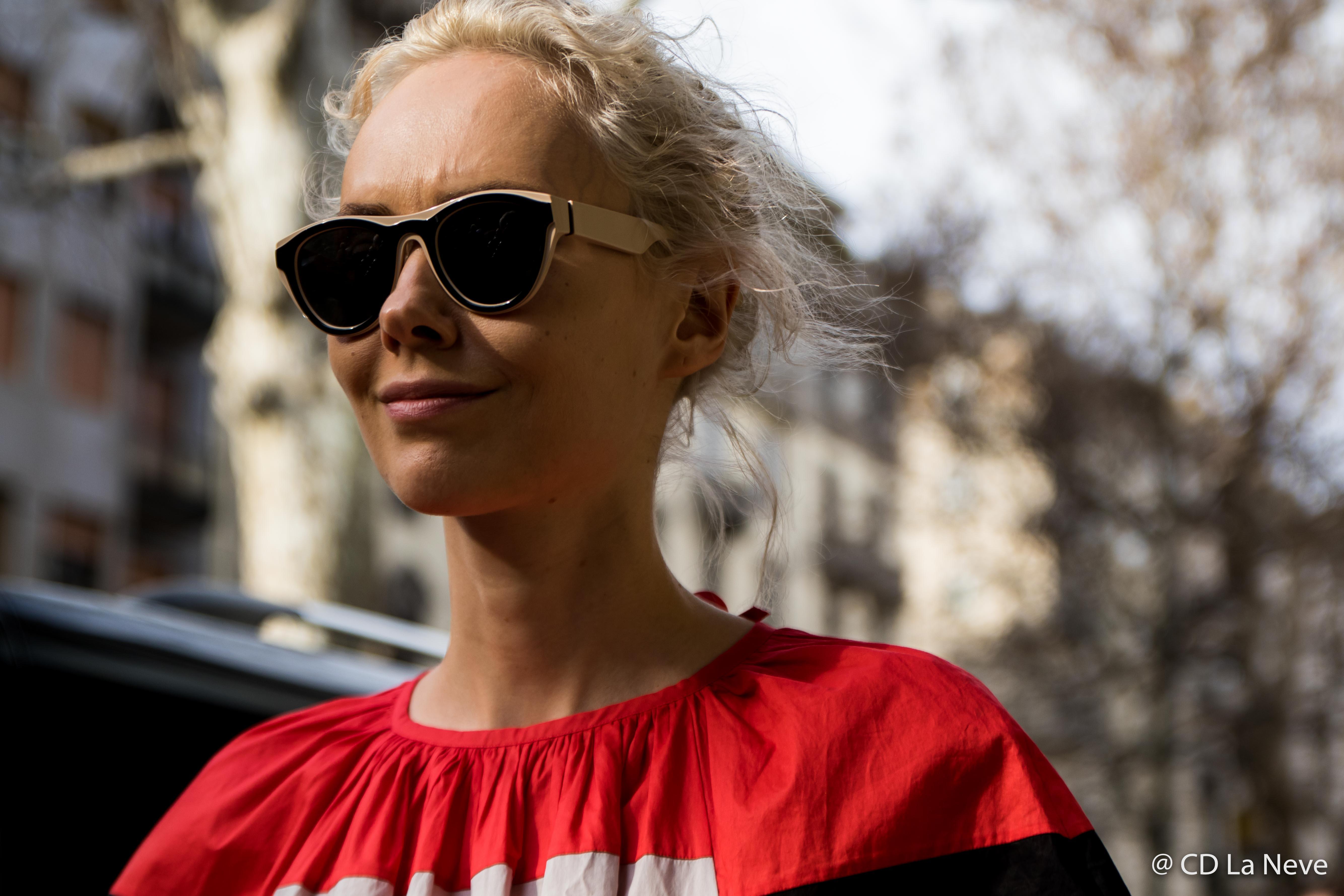 Olga Karput Dolce Gabbana Milan Fashion Week Street Style FW17