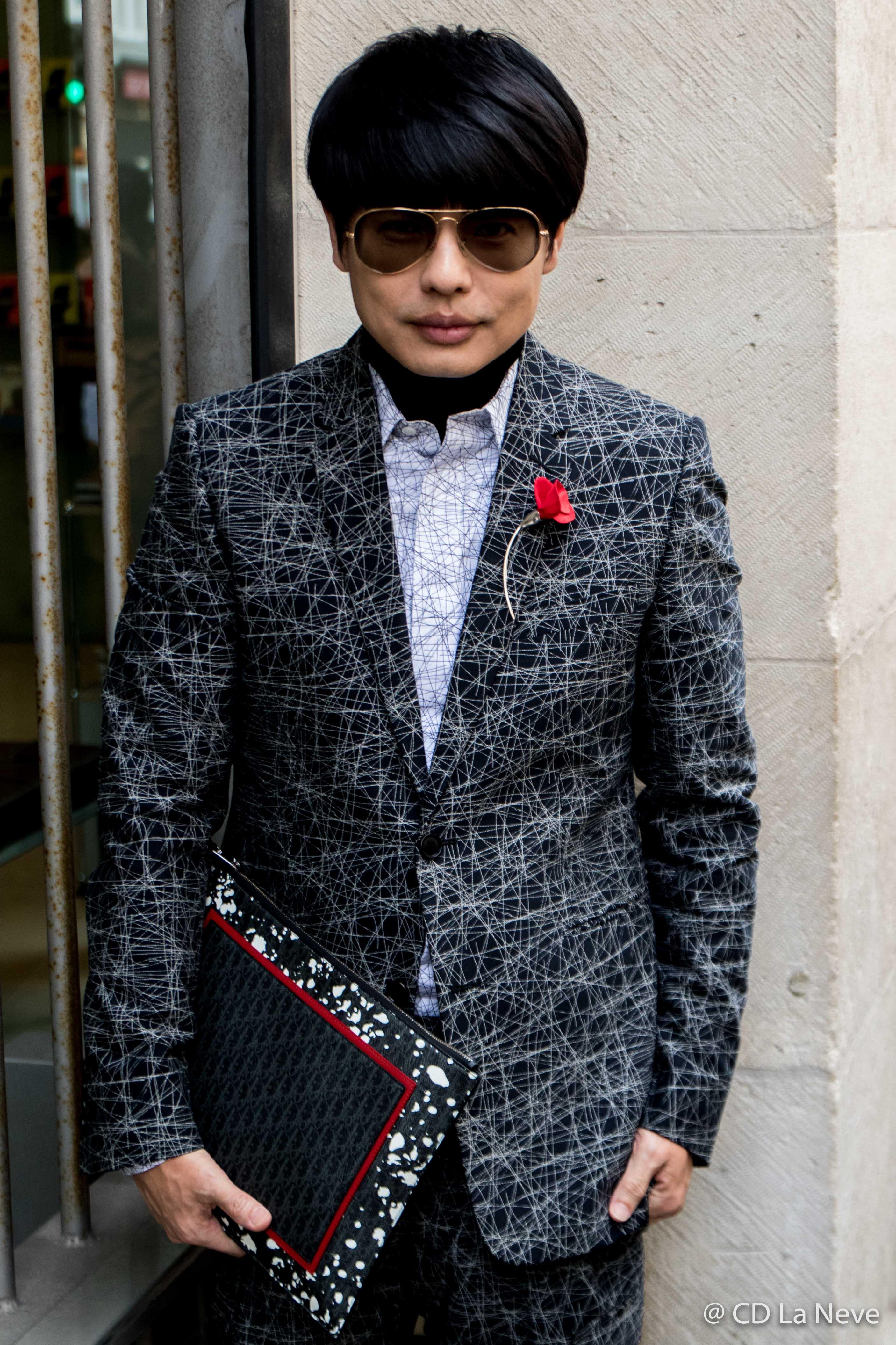 Kenneth Goh Street Style Dior Paris Fashion Week FW17