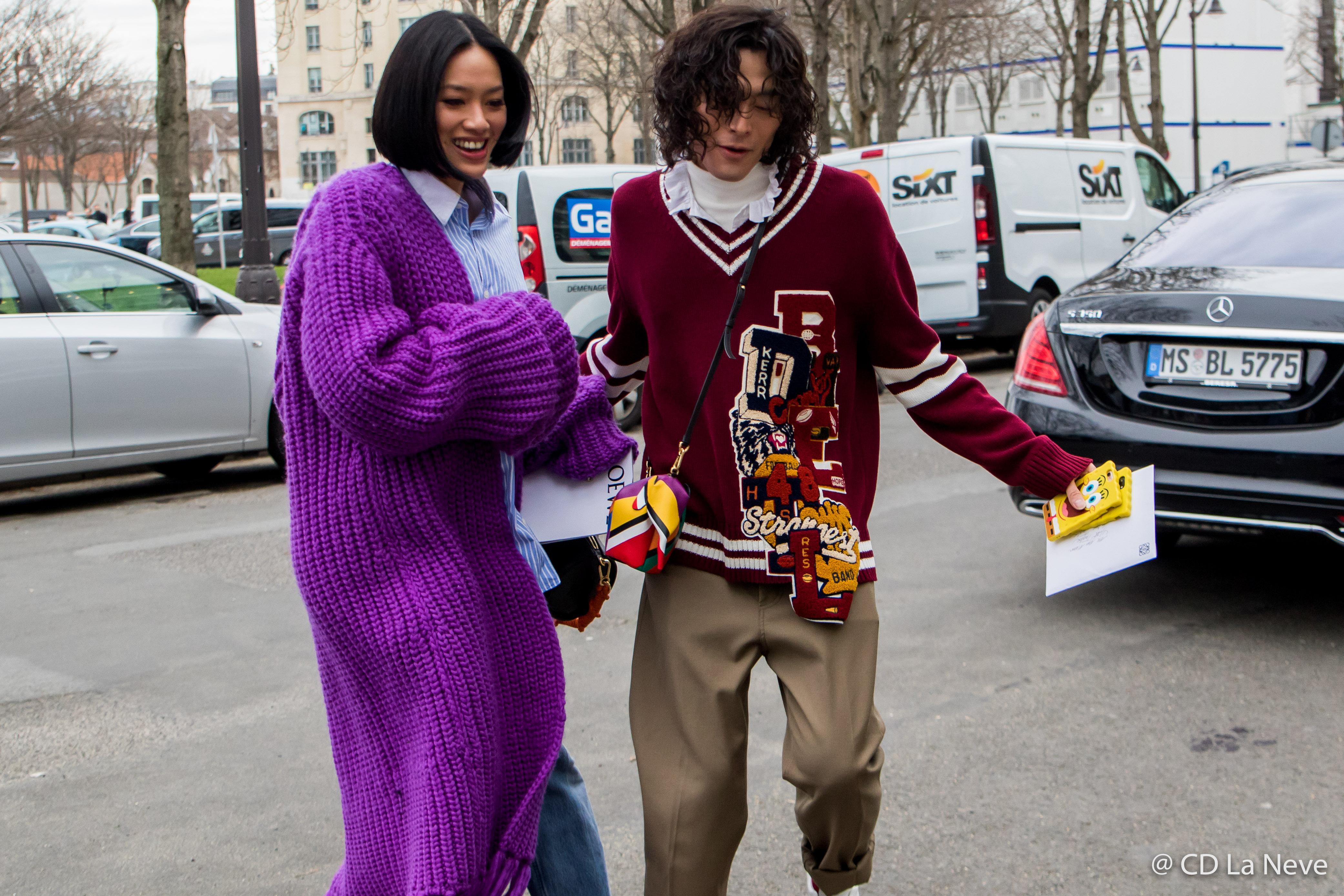 Tiffany Hsu Yu Masui Loewe Street Style Paris Fashion Week FW17