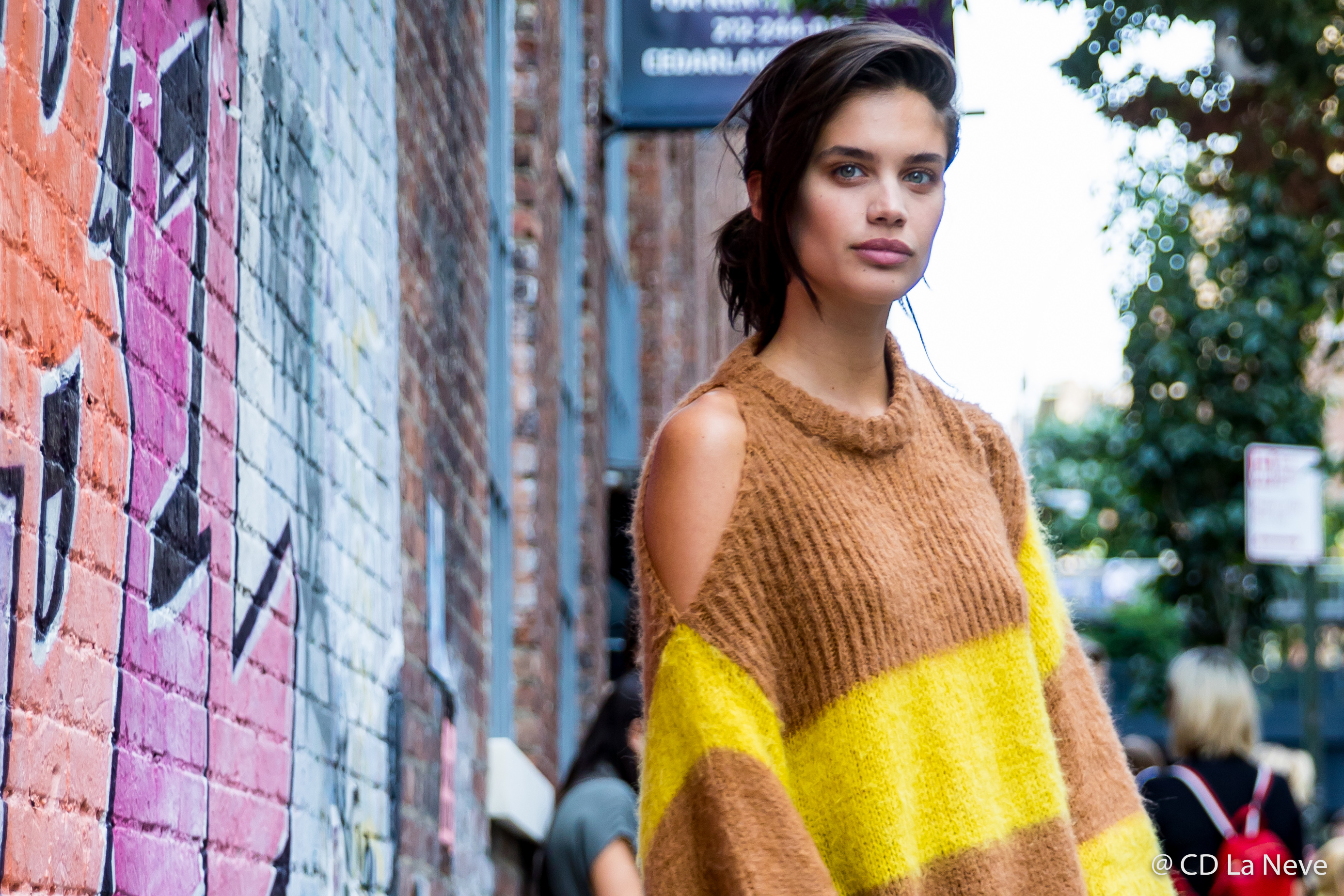 Sara Sampaio Zadig & Voltaire Street Style New York Fashion Week SS18 NYFW