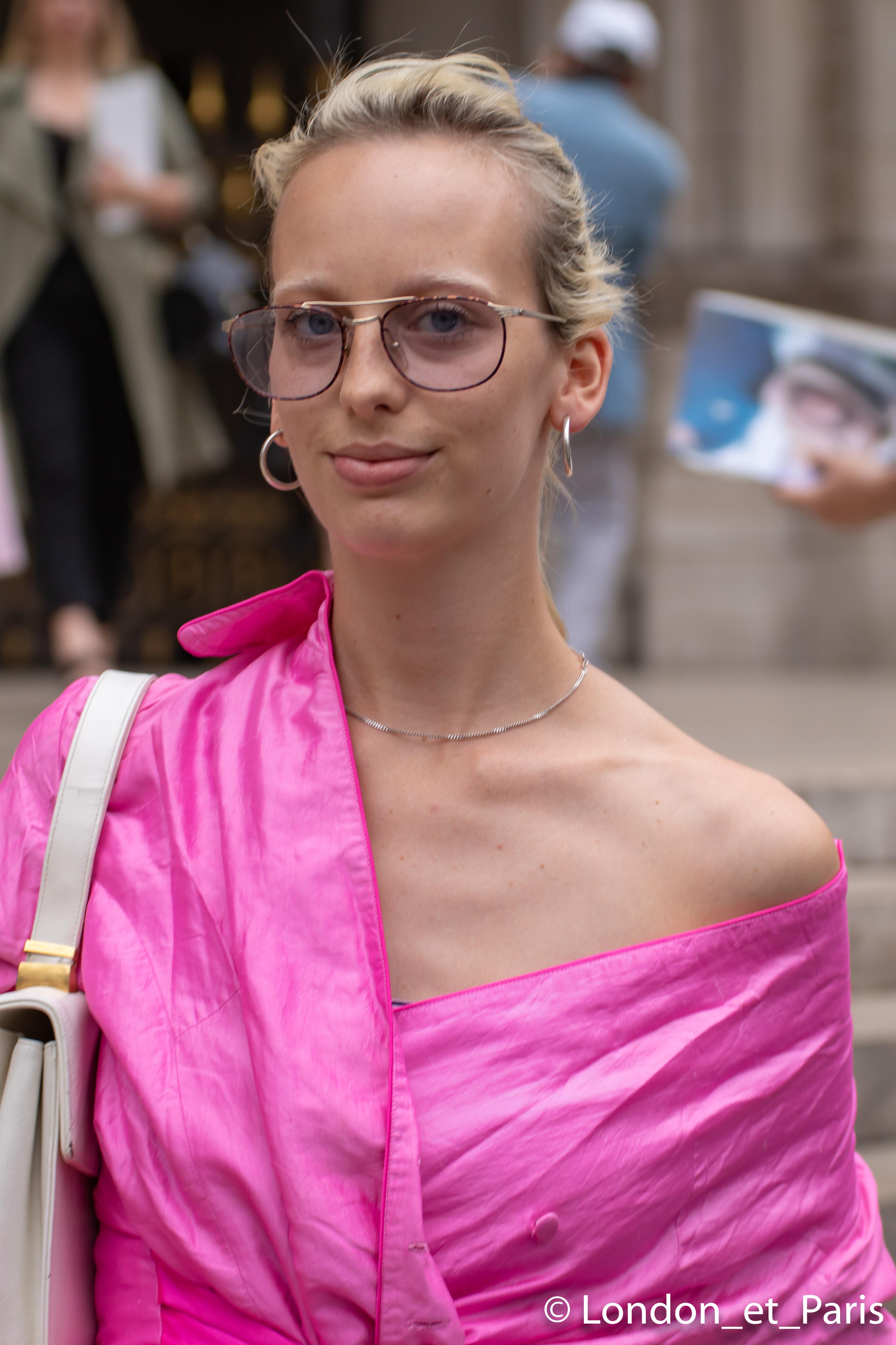 Lili Sumner Street Style FW18 Schiaparelli Paris Fashion Week Haute Couture