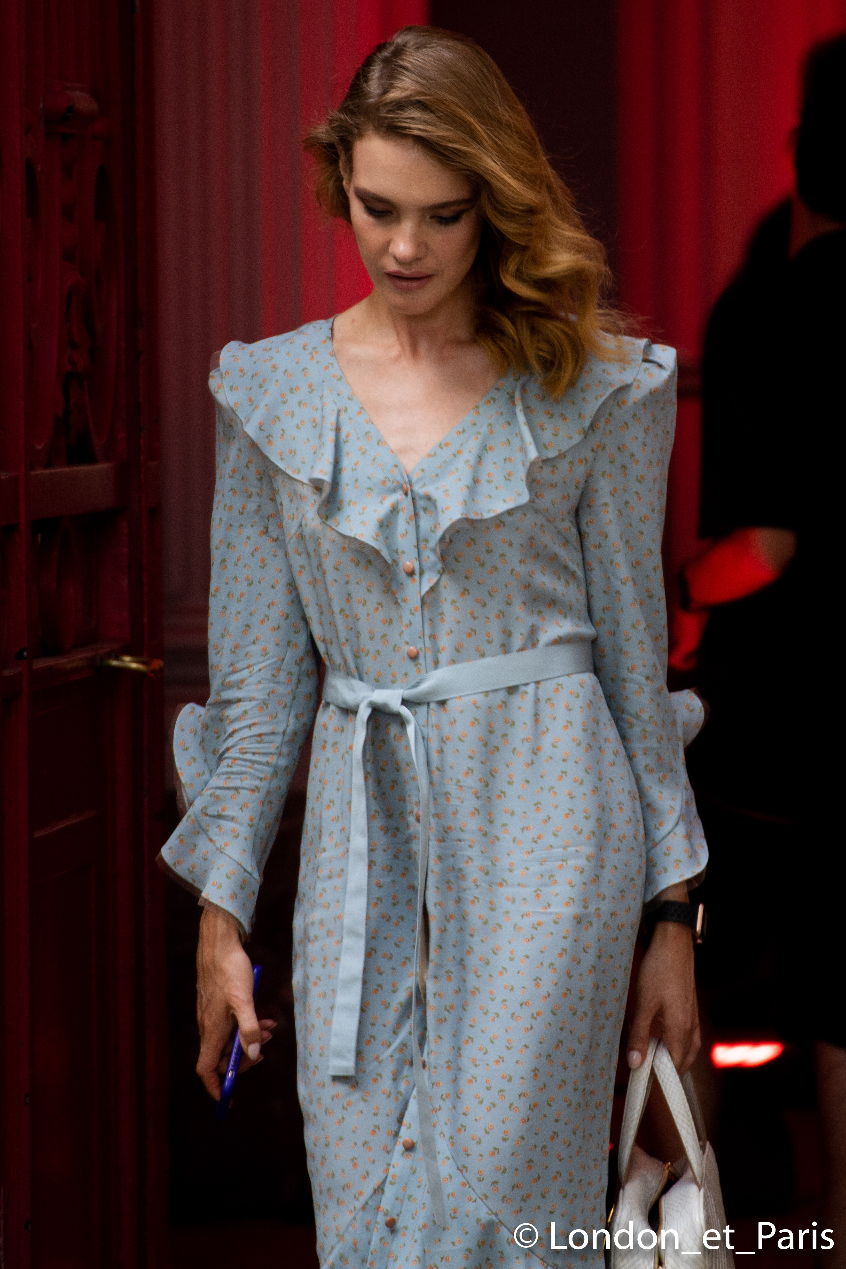 Natalia Vodianova Street Style Célia Kritharioti Haute Couture Paris Fashion Week FW18