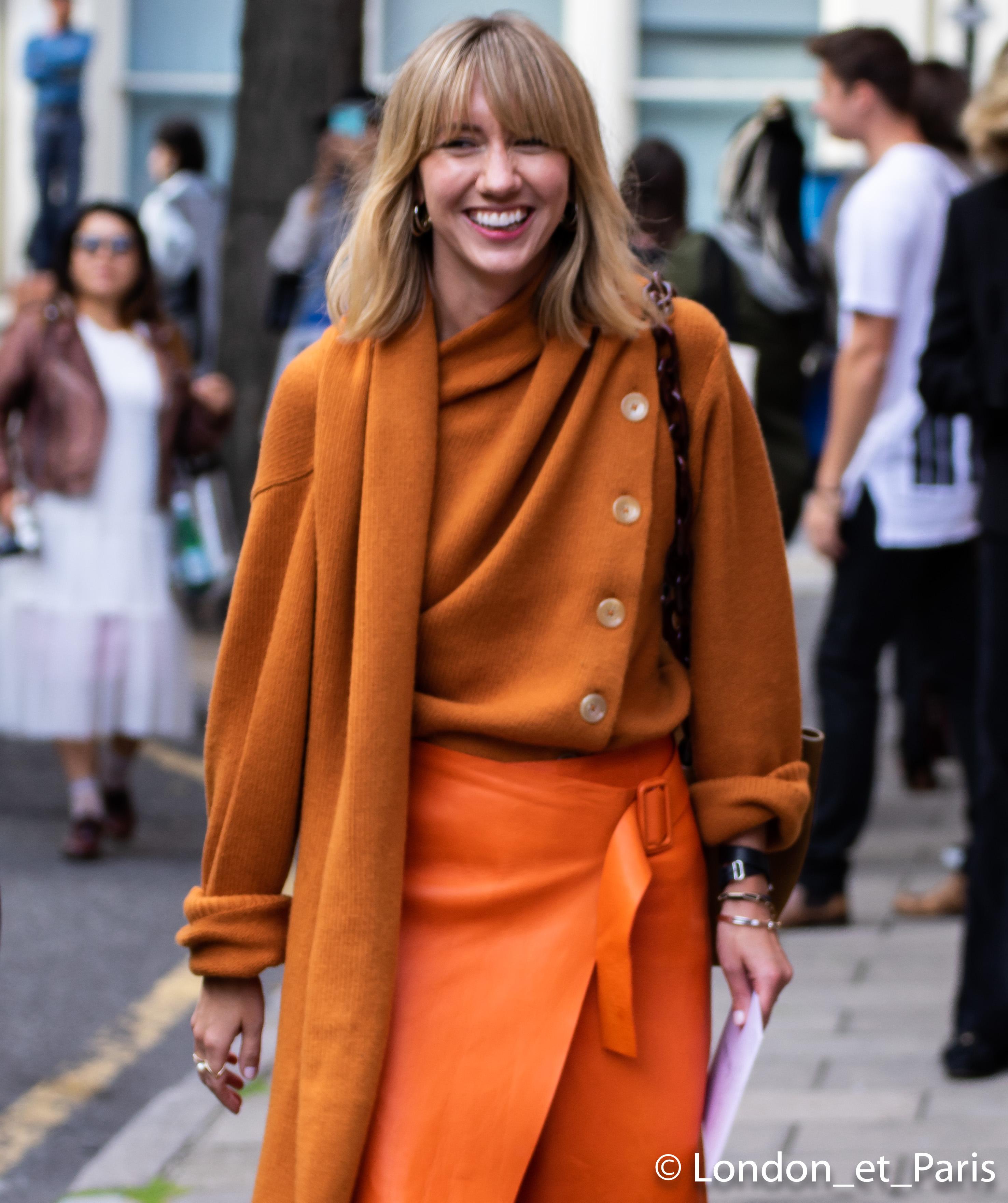 Lisa Aiken Street Style JW Anderson London Fashion Week LFW SS19