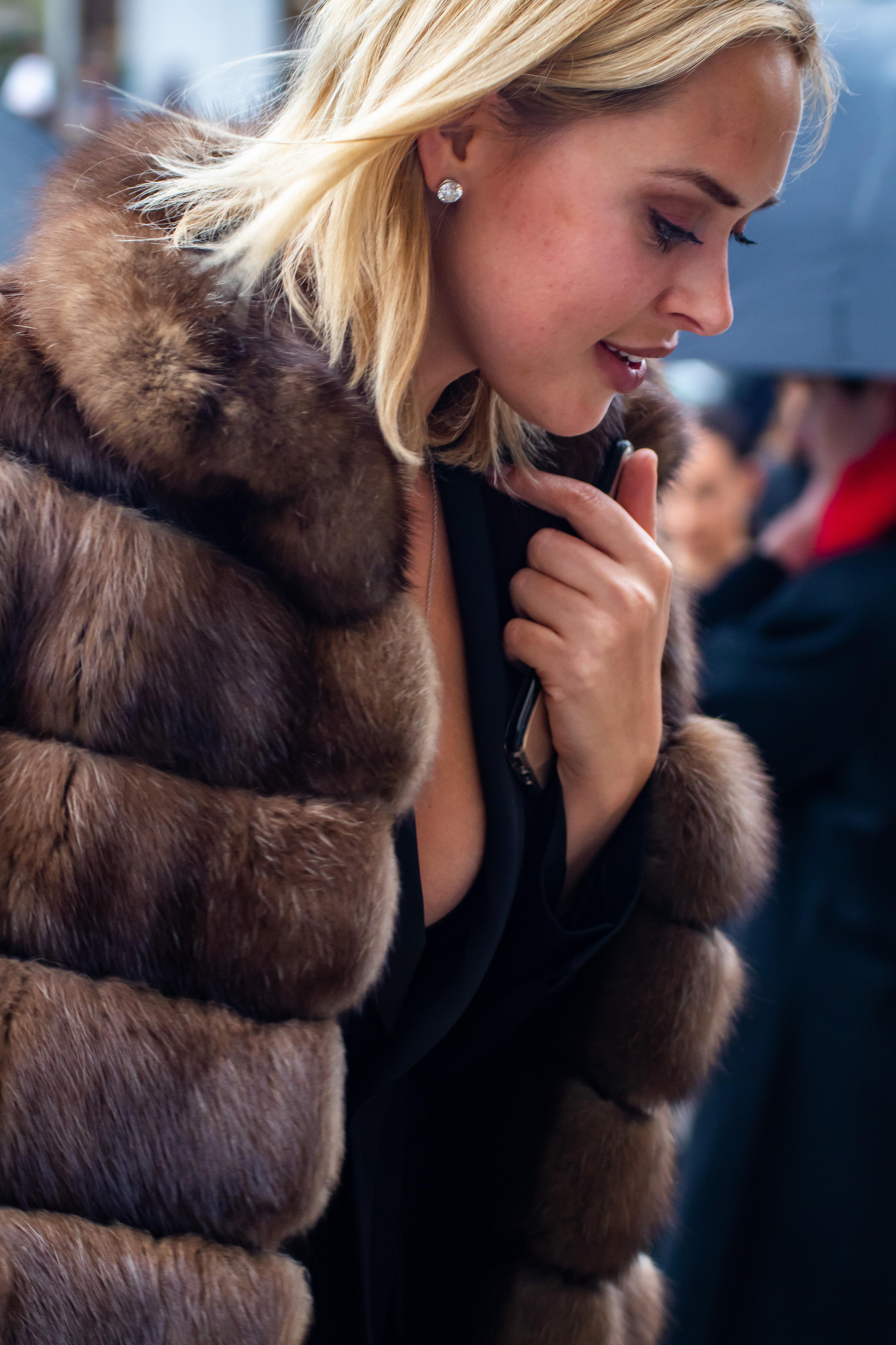 Innes Dudakova Street Style Elie Saab Paris Fashion Week Haute Couture SS19