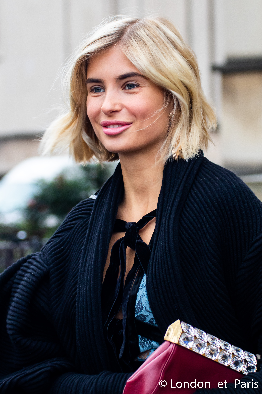 Xenia Van Der Woodsen Street Style Paris Fashion Week PFW Elie Saab SS19