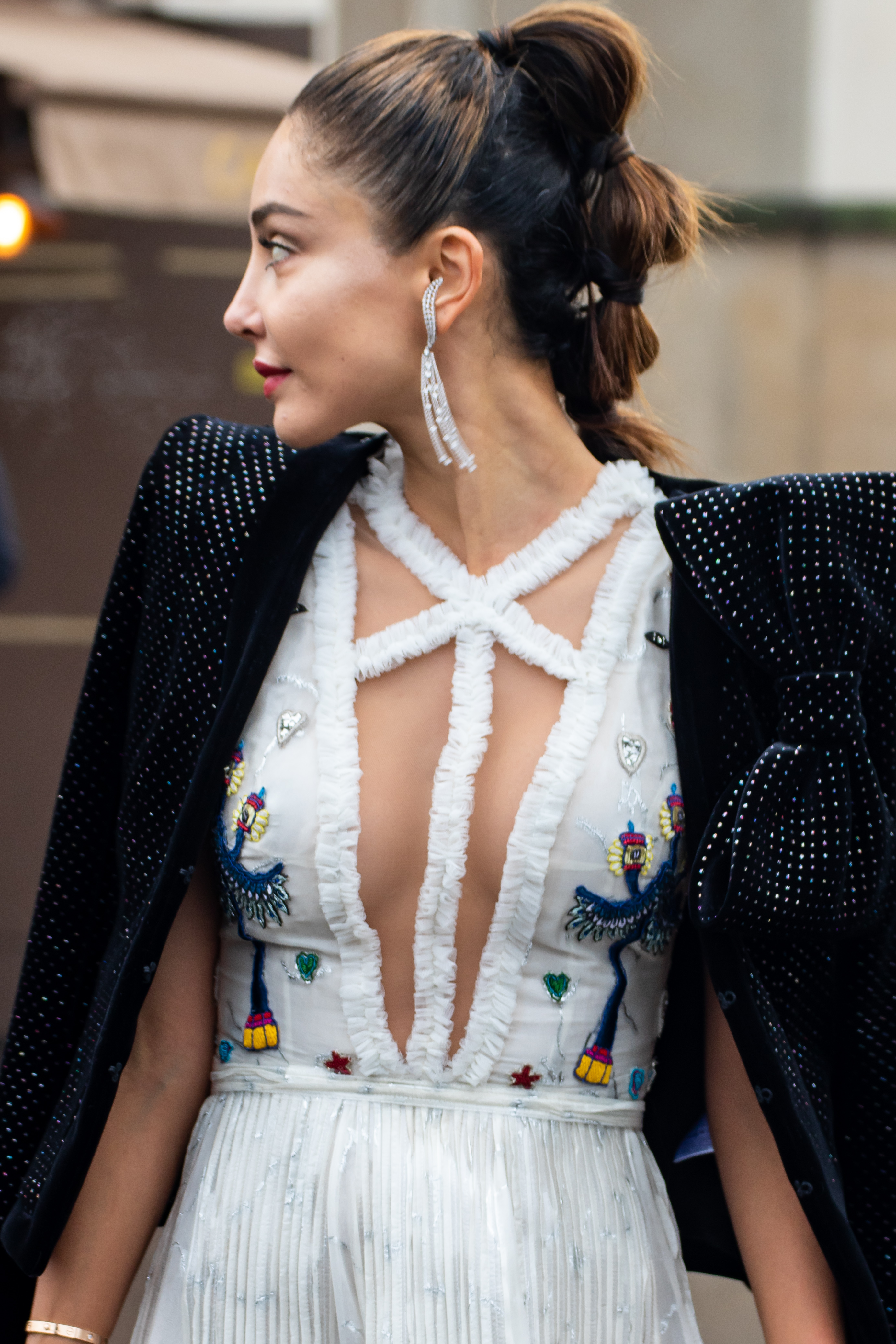Paris Fashion Week PFW Elie Saab Haute Couture Street Style SS19