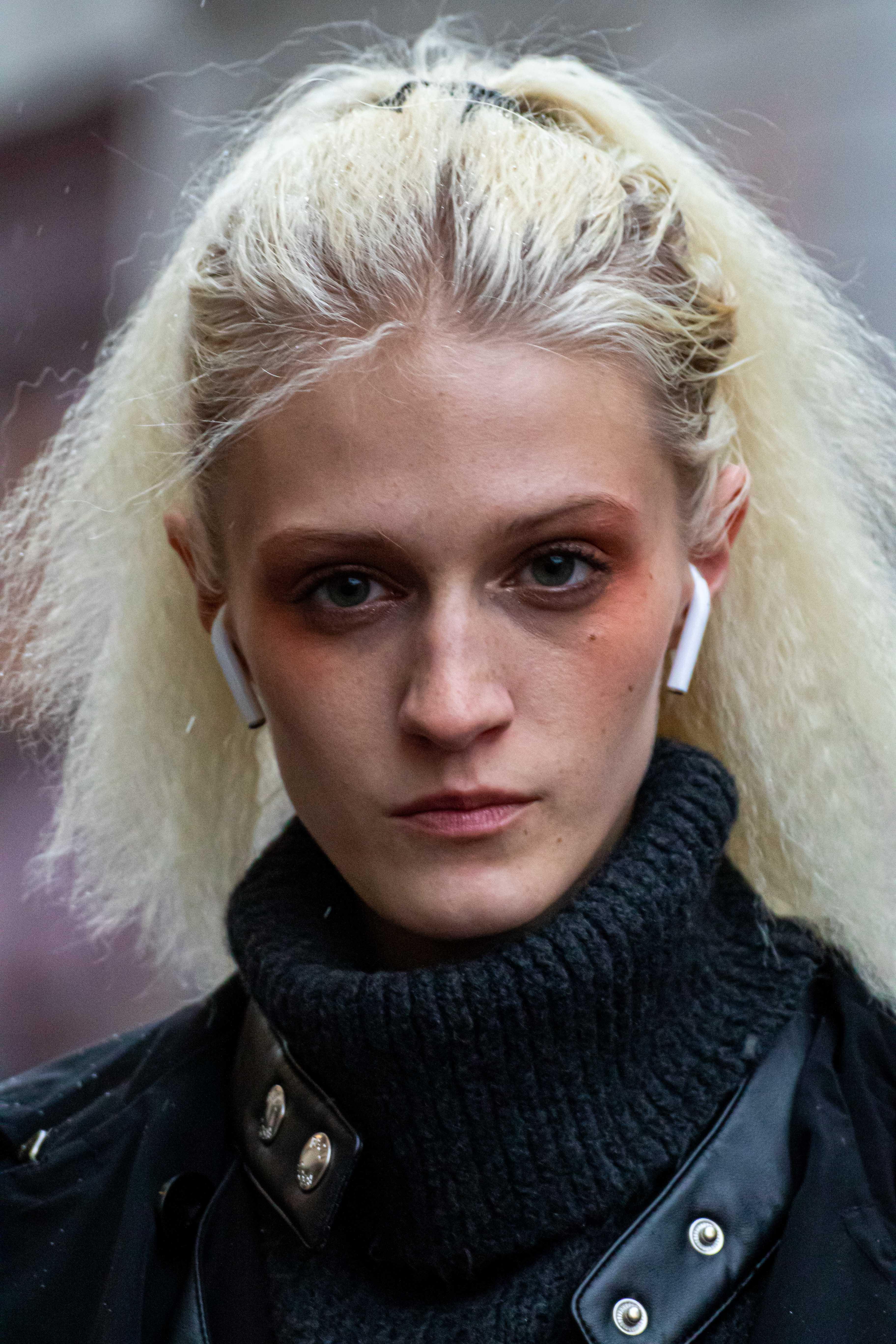 Model Street Style Paris Fashion Week Jean Paul Gaultier SS19