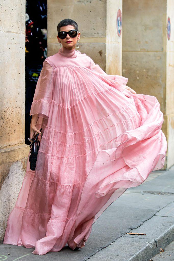Lauren Levison Paris Fashion Week Giambattista Street Style SS20