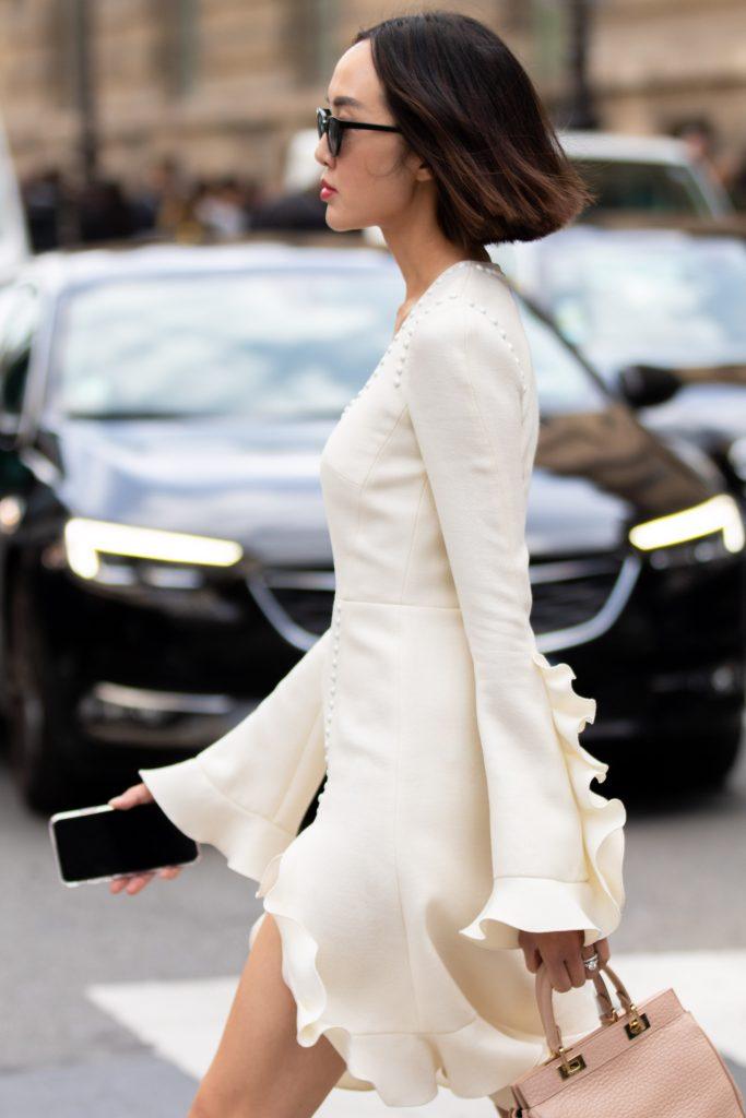 Chriselle Lim Street Style Paris Fashion Week Giambattista Valli SS20