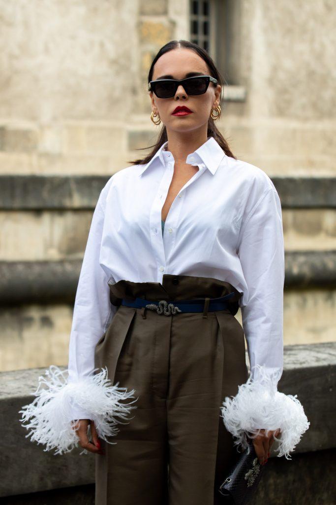 Evangelie Smyrniotaki Street Style Maison Valentino Paris Fashion Week SS20