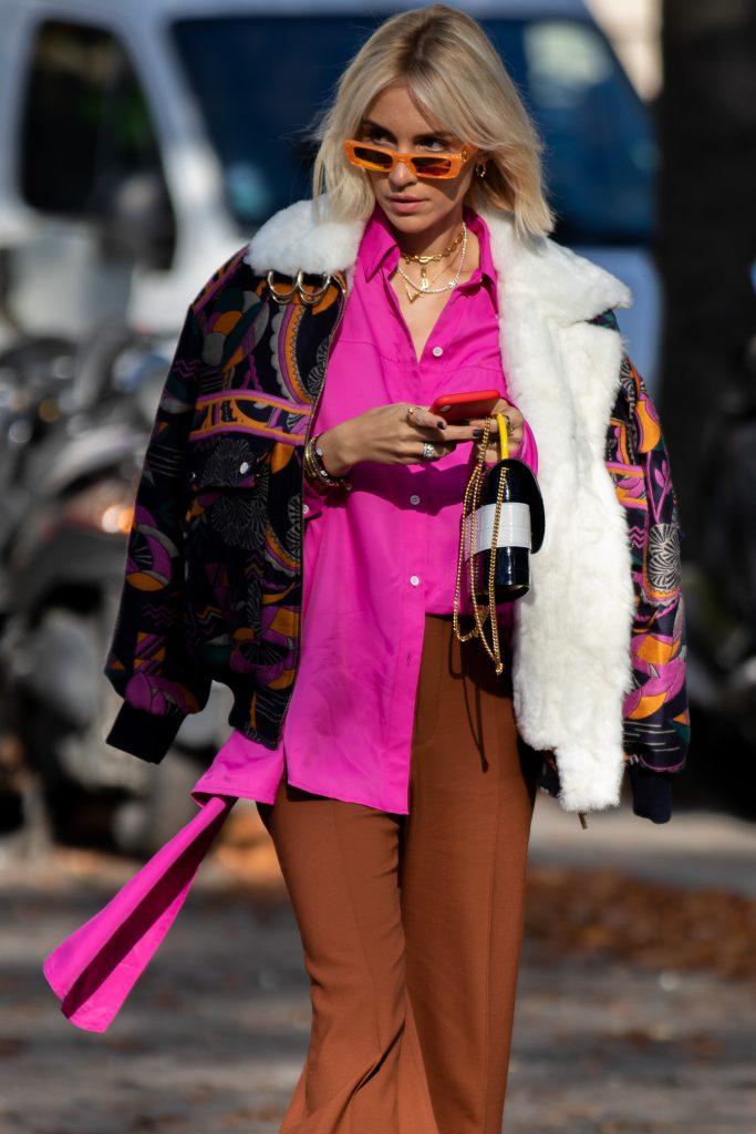Viktoria Rader Street Style Paris Fashion Week SS20 Leonard Paris