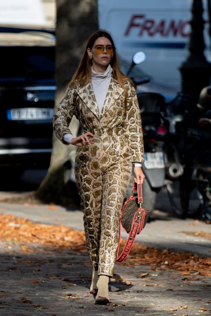 Leonard Paris Street Style SS20 Paris Fashion Week PFW
