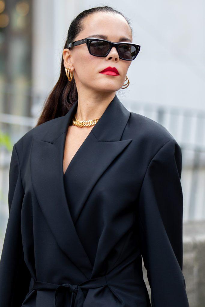Evangelie Smyrniotaki Street Style after Nina Ricci Paris Fashion Week SS20