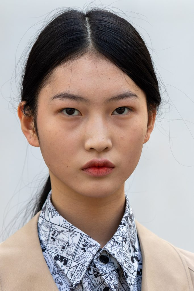 Model Street Style after Nina Ricci Paris Fashion Week SS20
