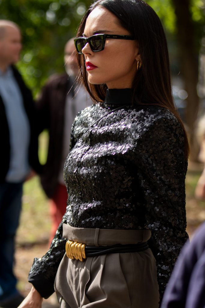 Style Heroine Evangelie Smyrniotaki Street Style Paris Fashion Week Elia Saab SS20