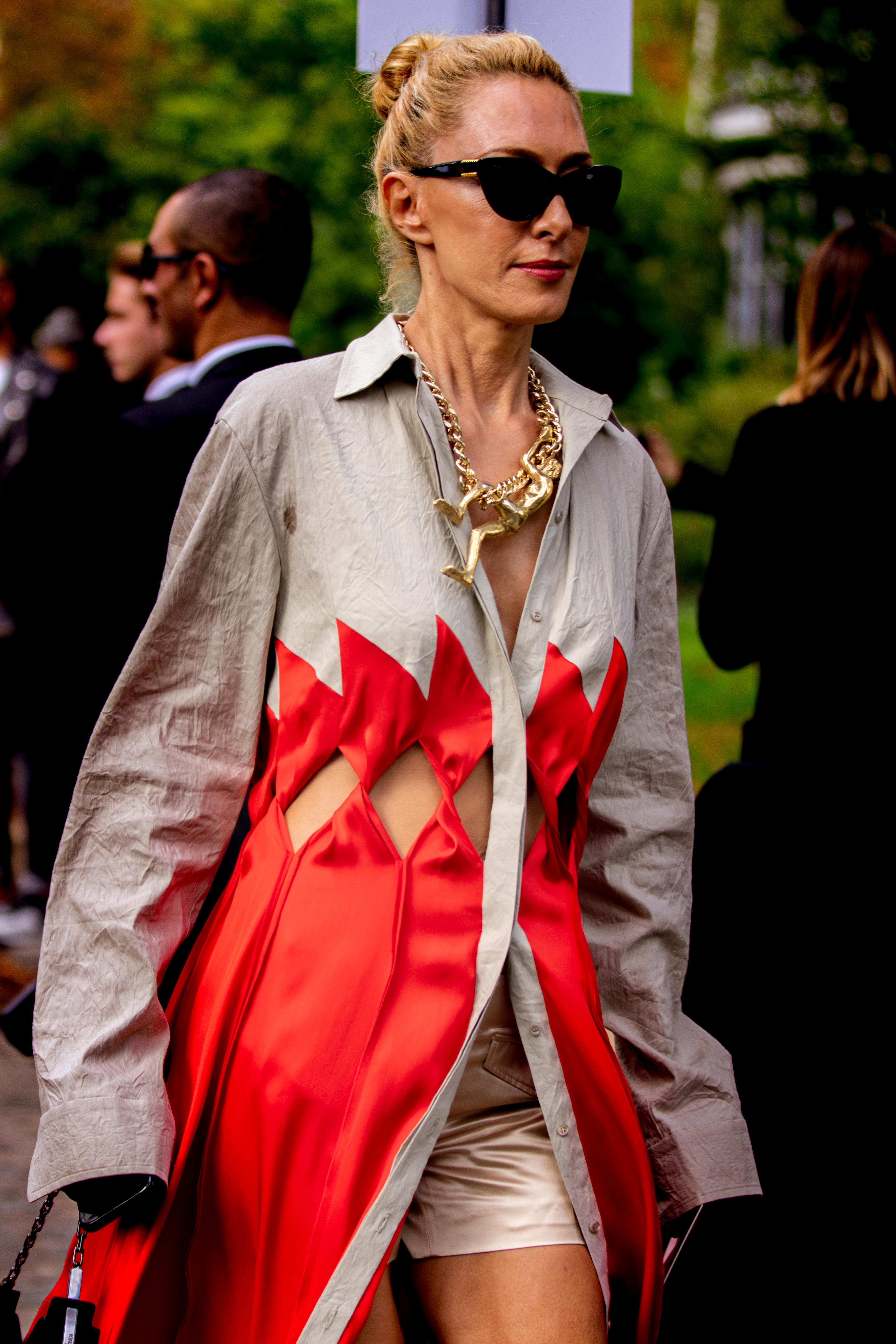 Elina Halimi Street Style Elie Saab SS20 Paris Fashion Week
