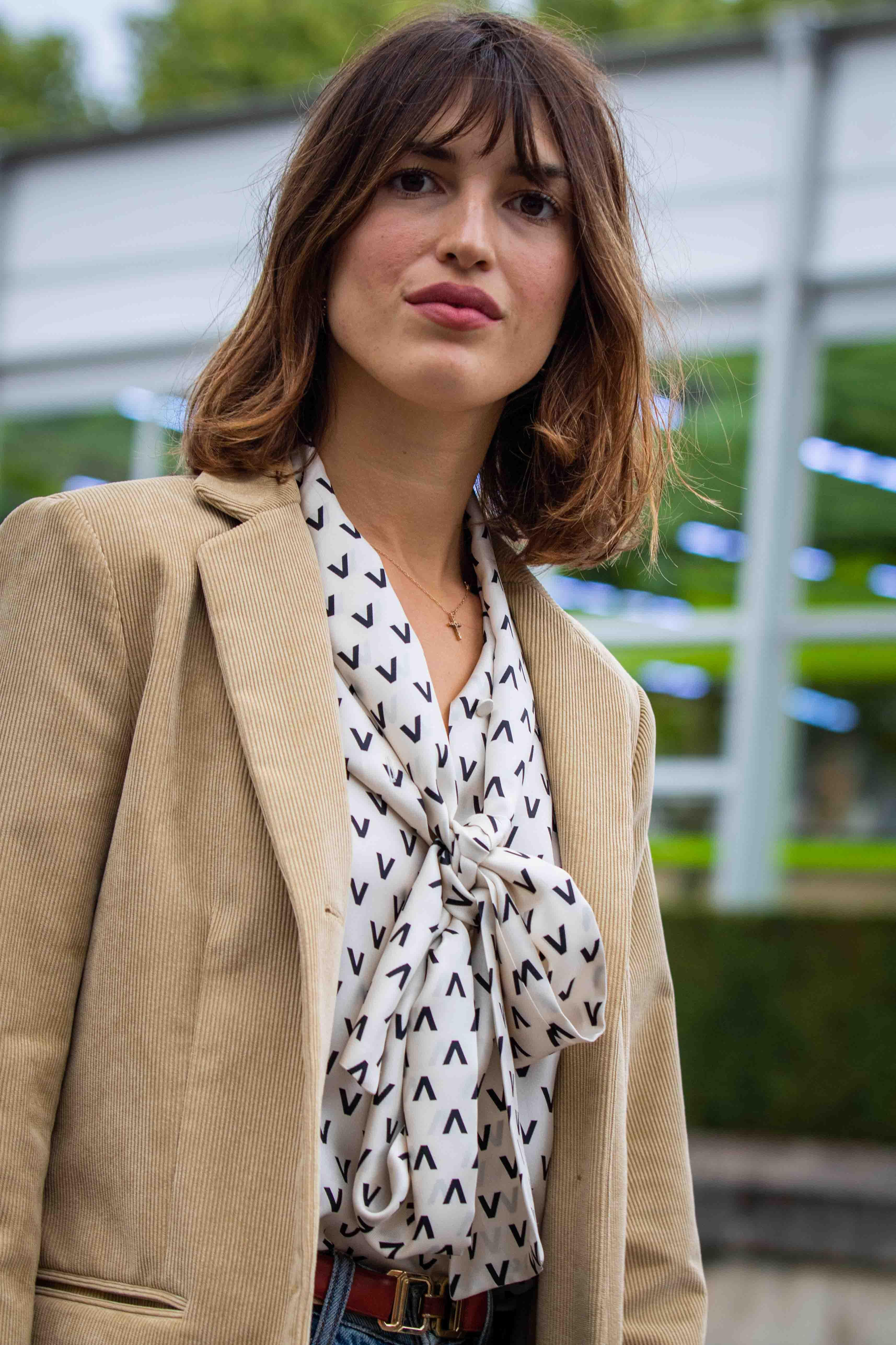 Paris Fashion Week Jeanne Damas Street Style SS20 Valentino