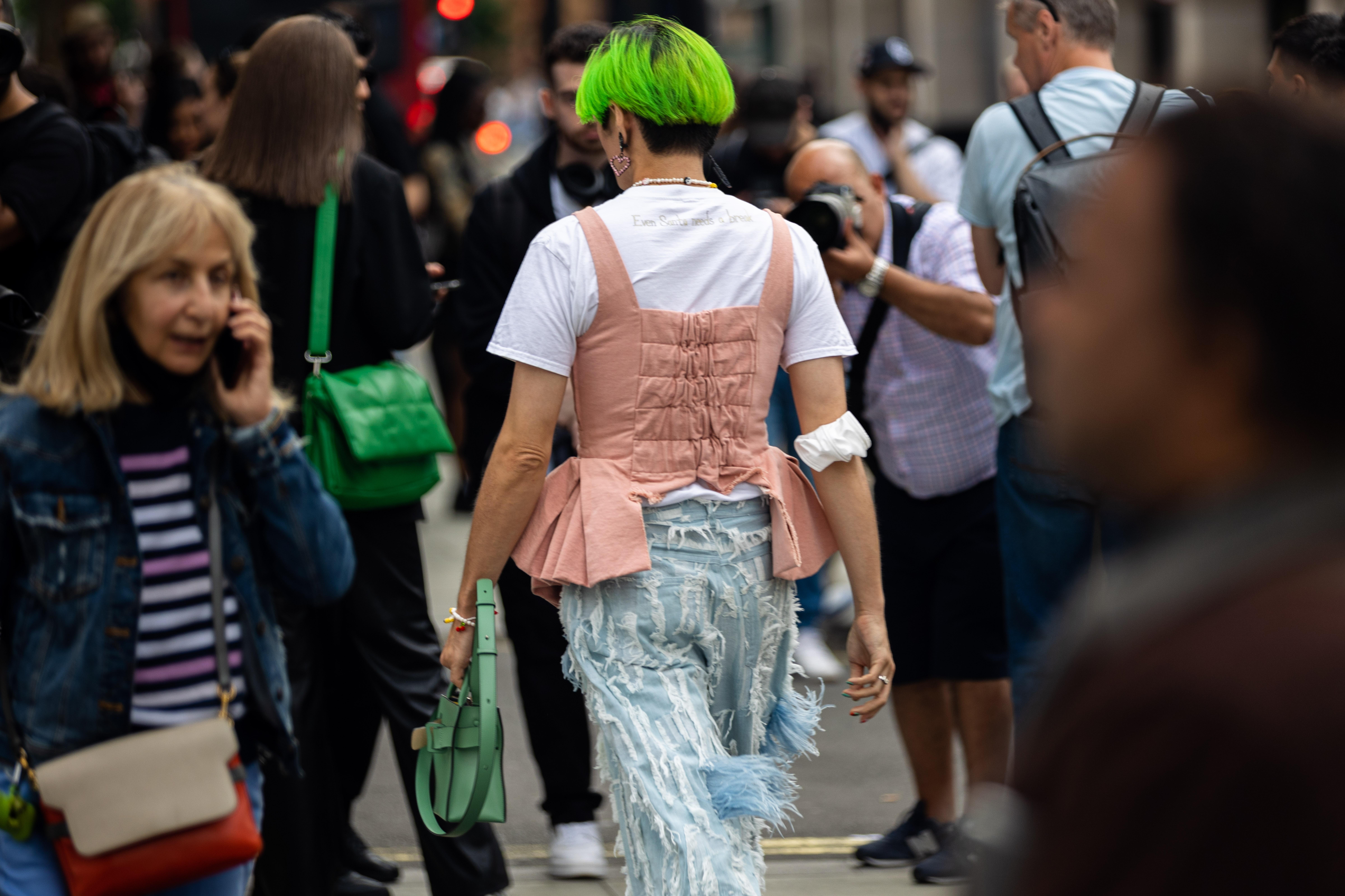 Yu Masui During London Fashion Week SS22