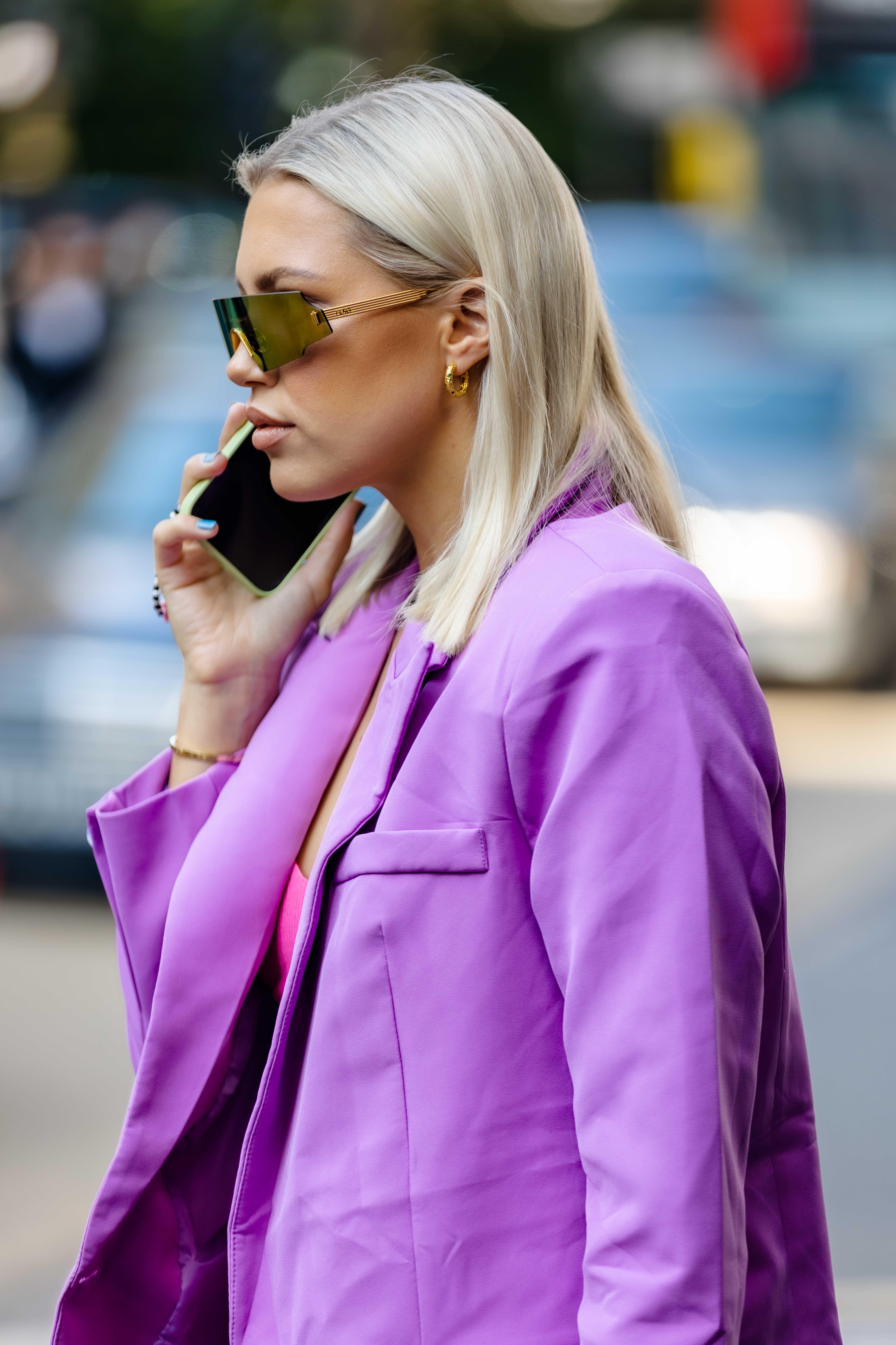 Caroline Ebo London Fashion Week SS22 Street Style TikTok Show Space