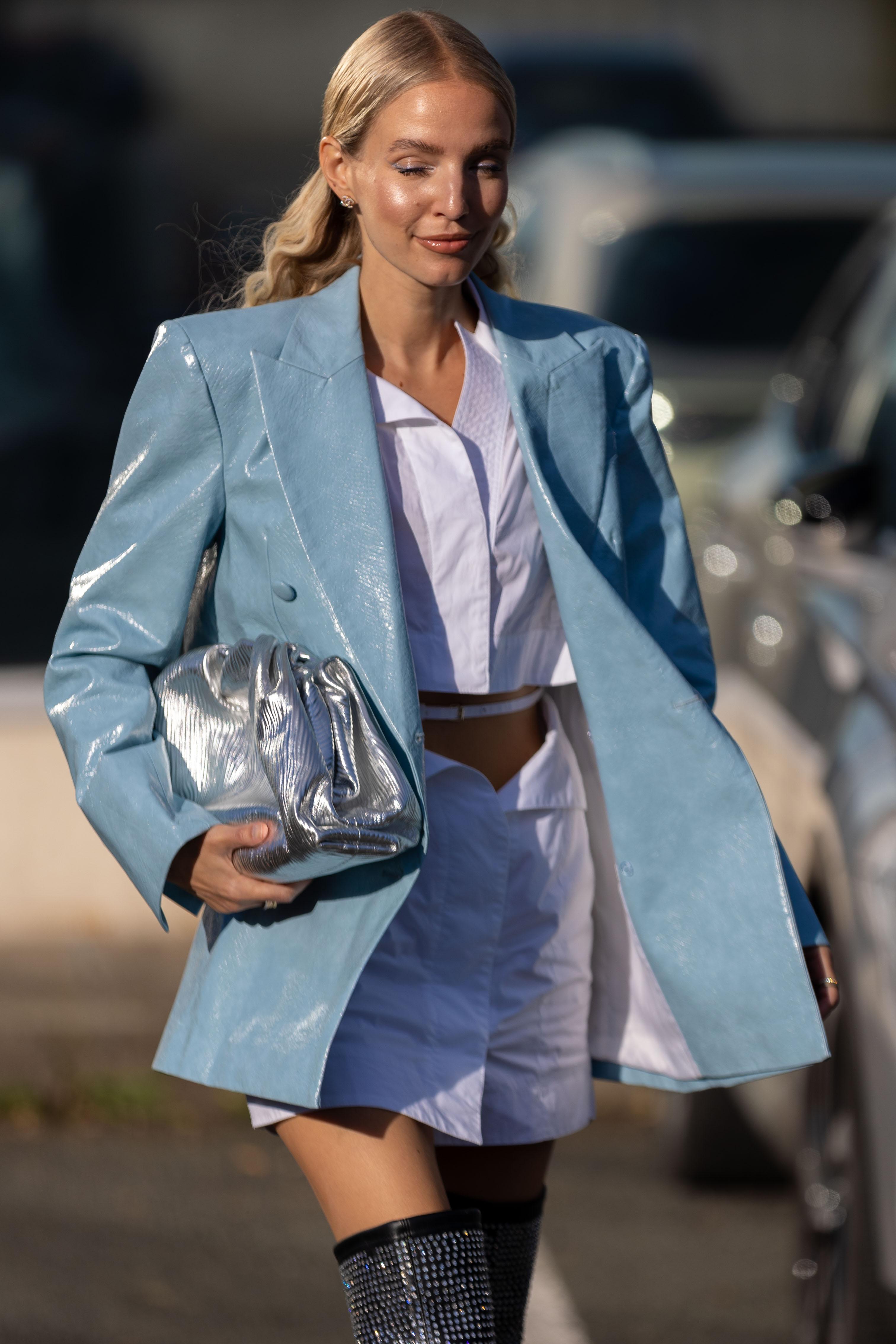 Leonie Hanne SS22 Coperni Street Style Paris Fashion Week