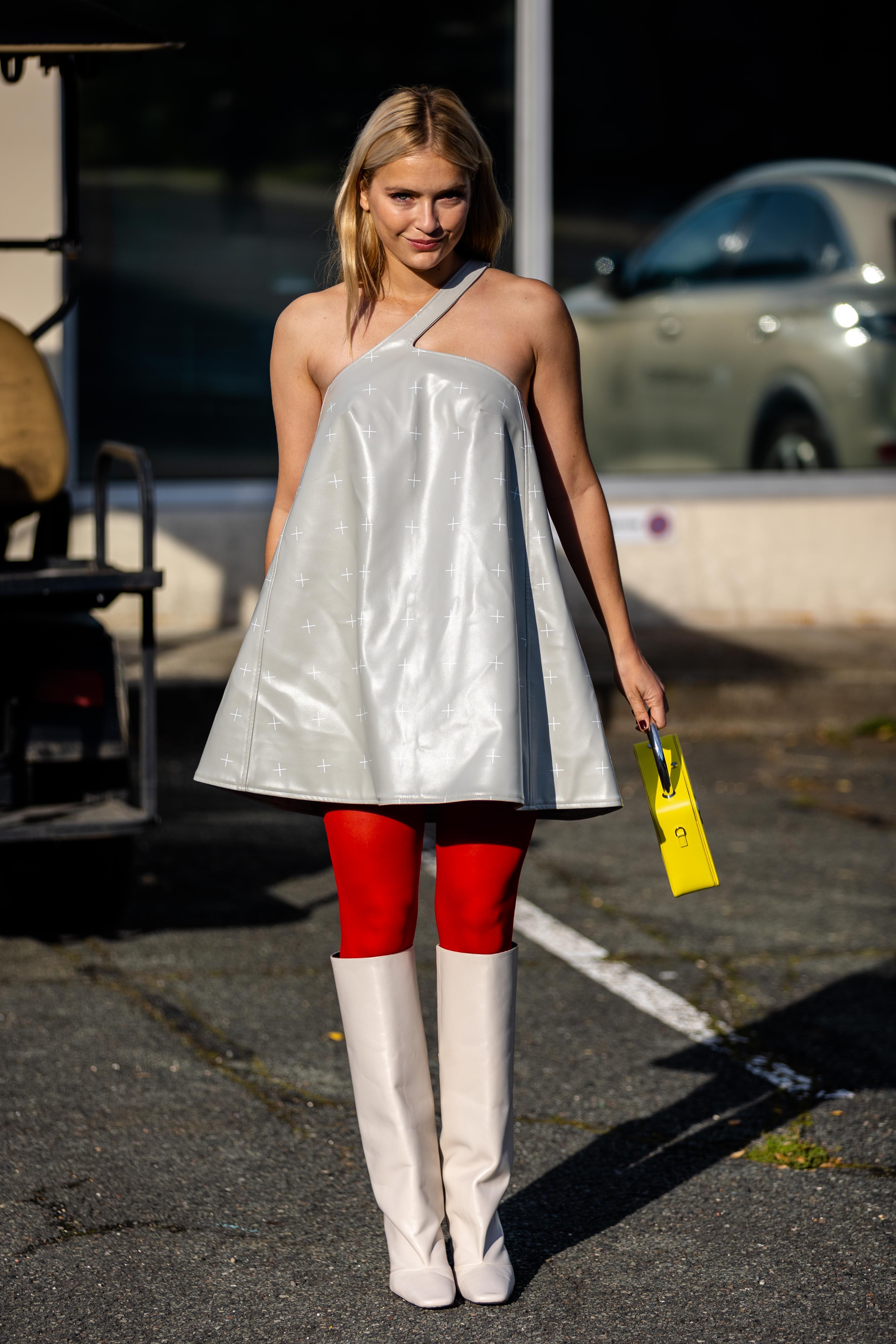 Camille Razat Coperni SS22 Street Style Paris Fashion Week
