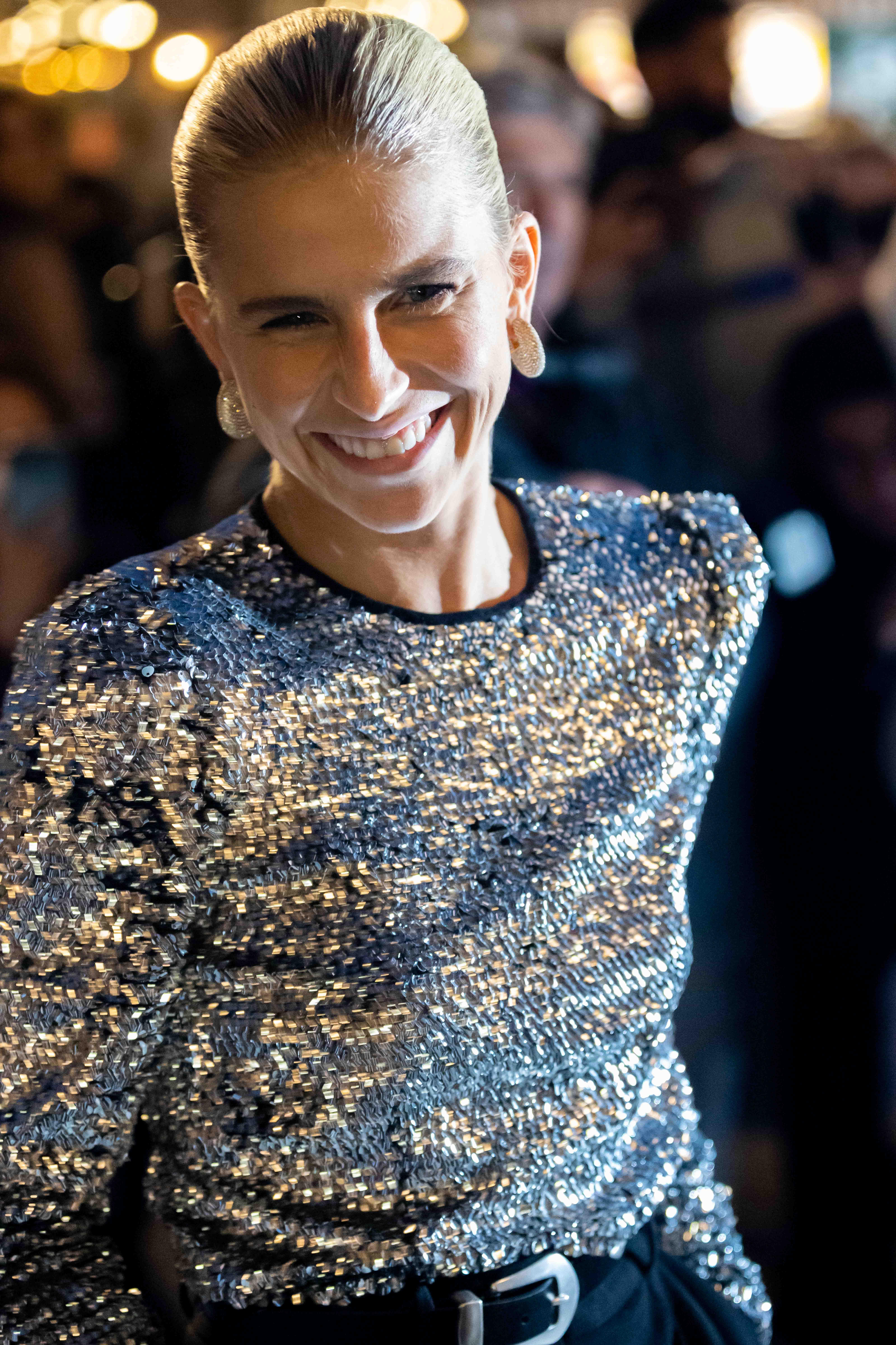 Caro Daur before Isabel Marant Paris Fashion Week SS22 Street Style