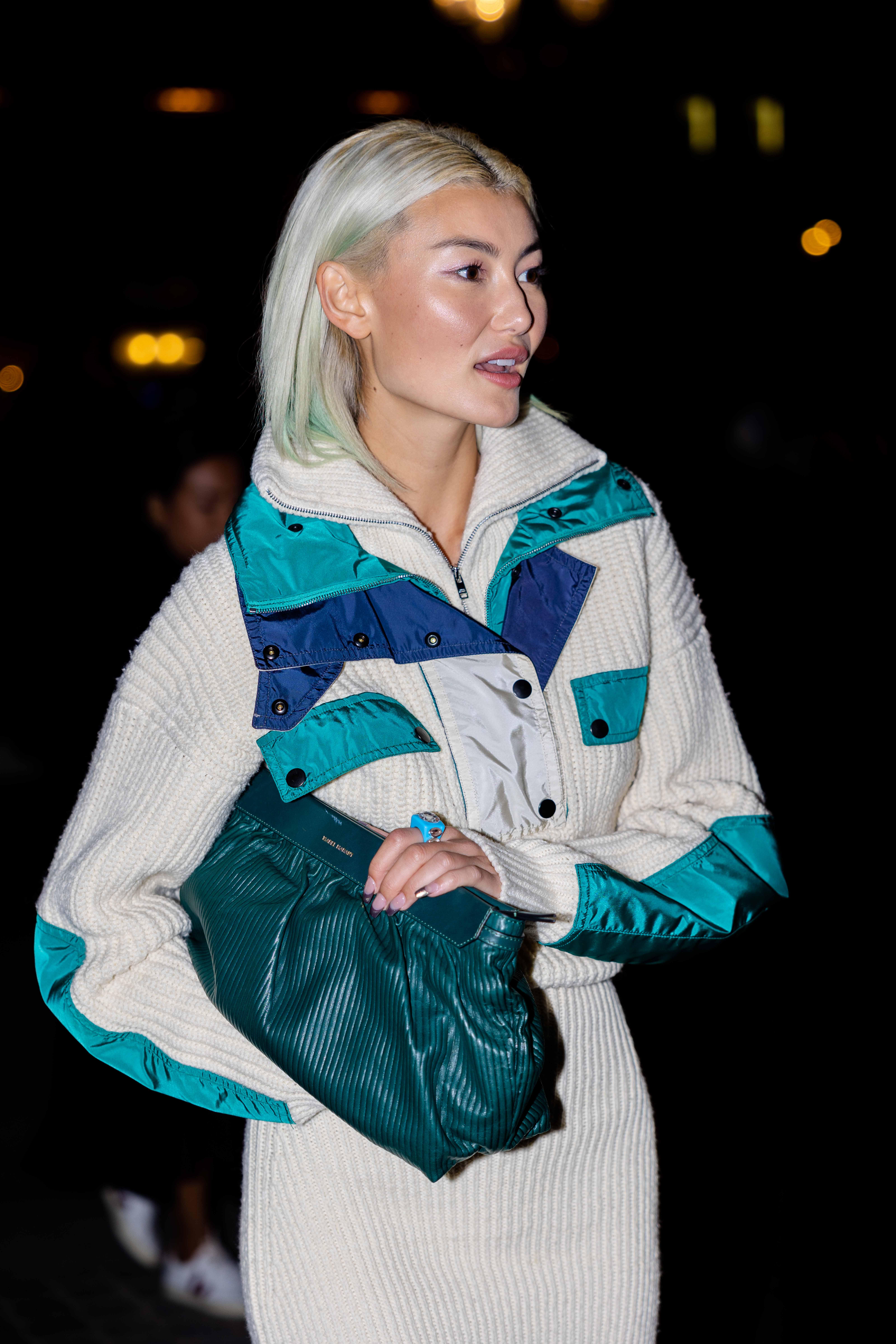 Amalie Gassmann Street Style before Isabel Marant Paris Fashion Week SS22