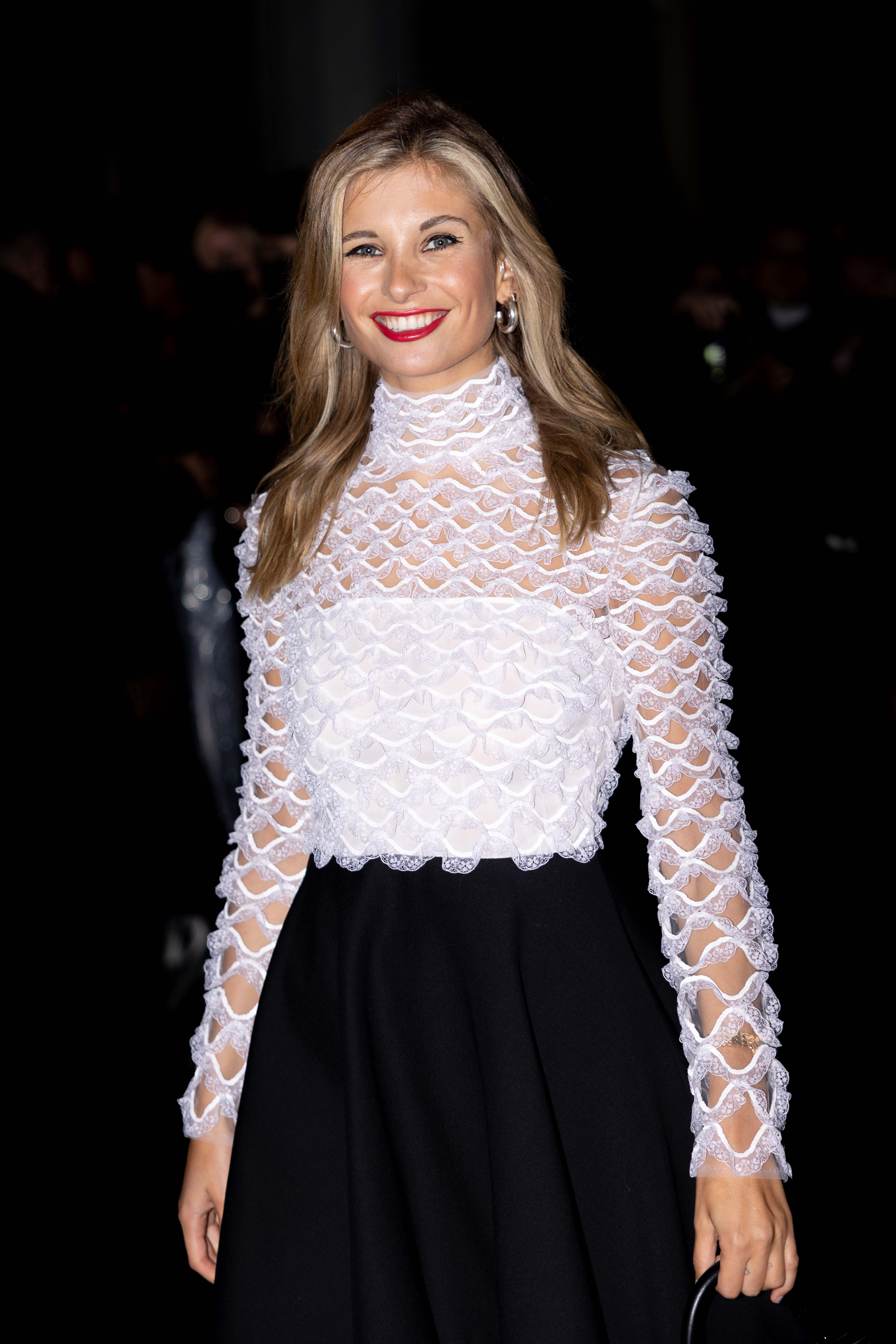 Xenia Adonts Street Style Before Valentino vParis Fashion Week SS22