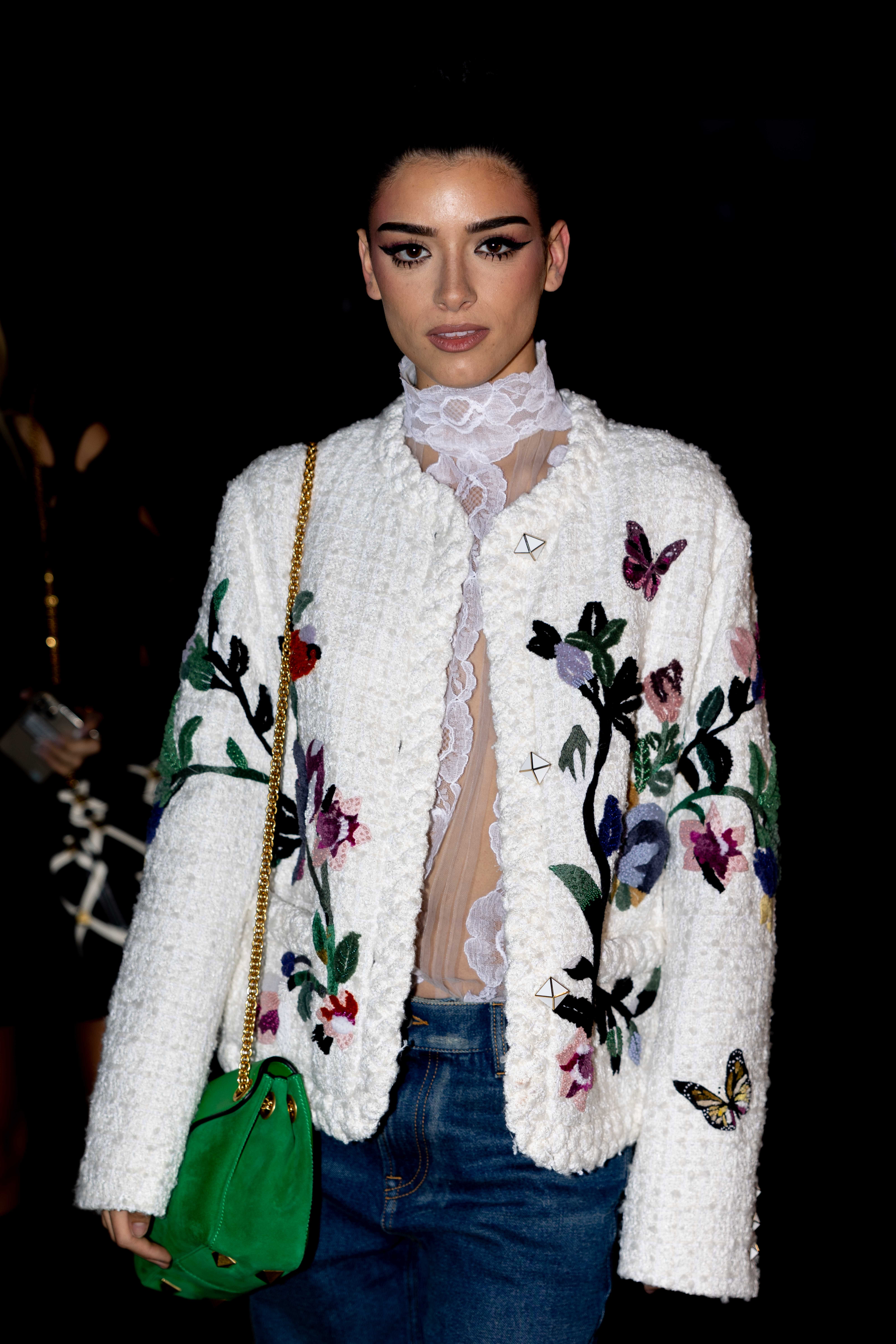 Dixie D'Amelio before Valentino Paris Fashion Week SS22