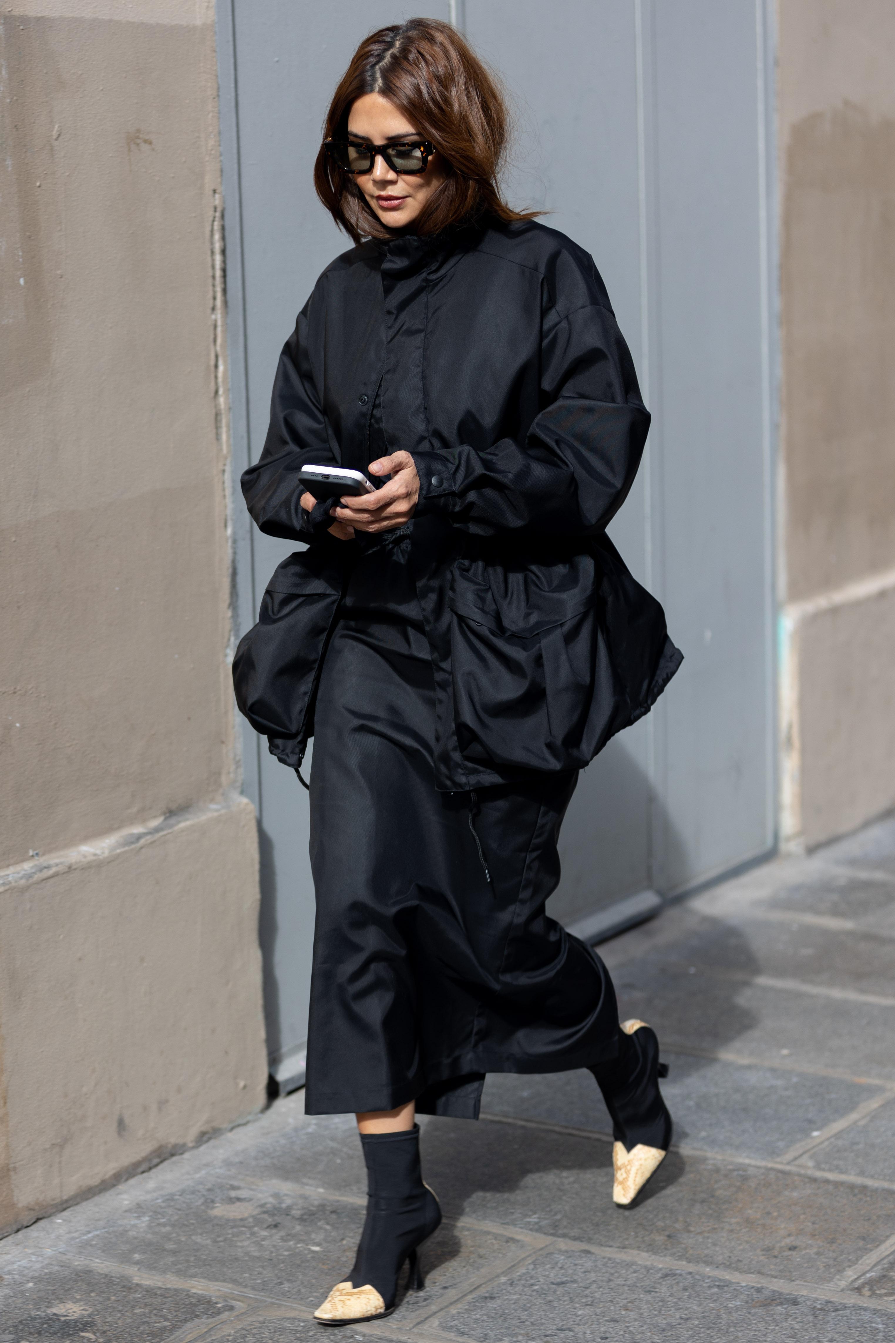 Christine Centenera before Vivienne Westwood Paris Fashion Week SS22
